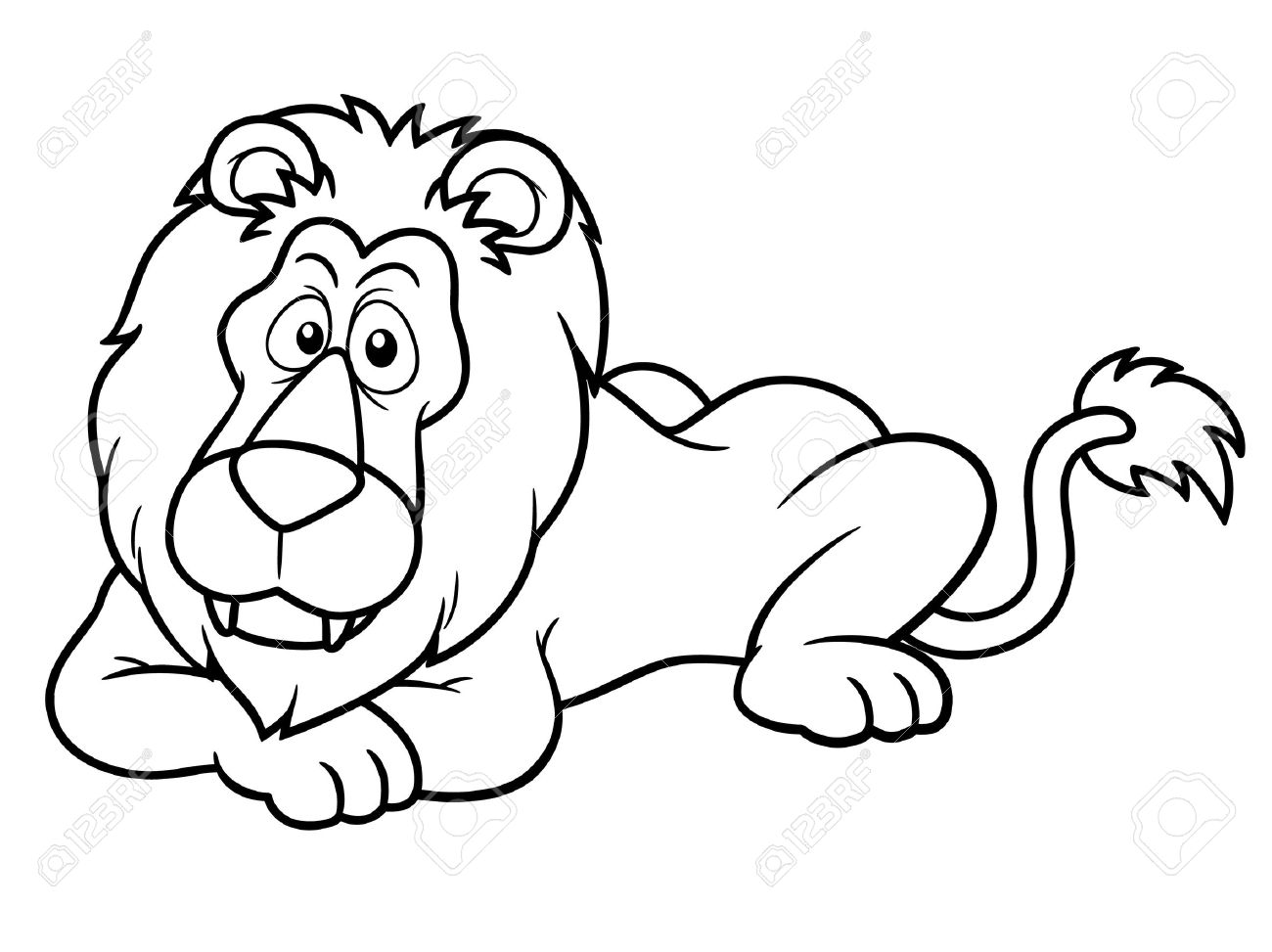- Illustration Of Cartoon Lion - Coloring Book Royalty Free Cliparts
