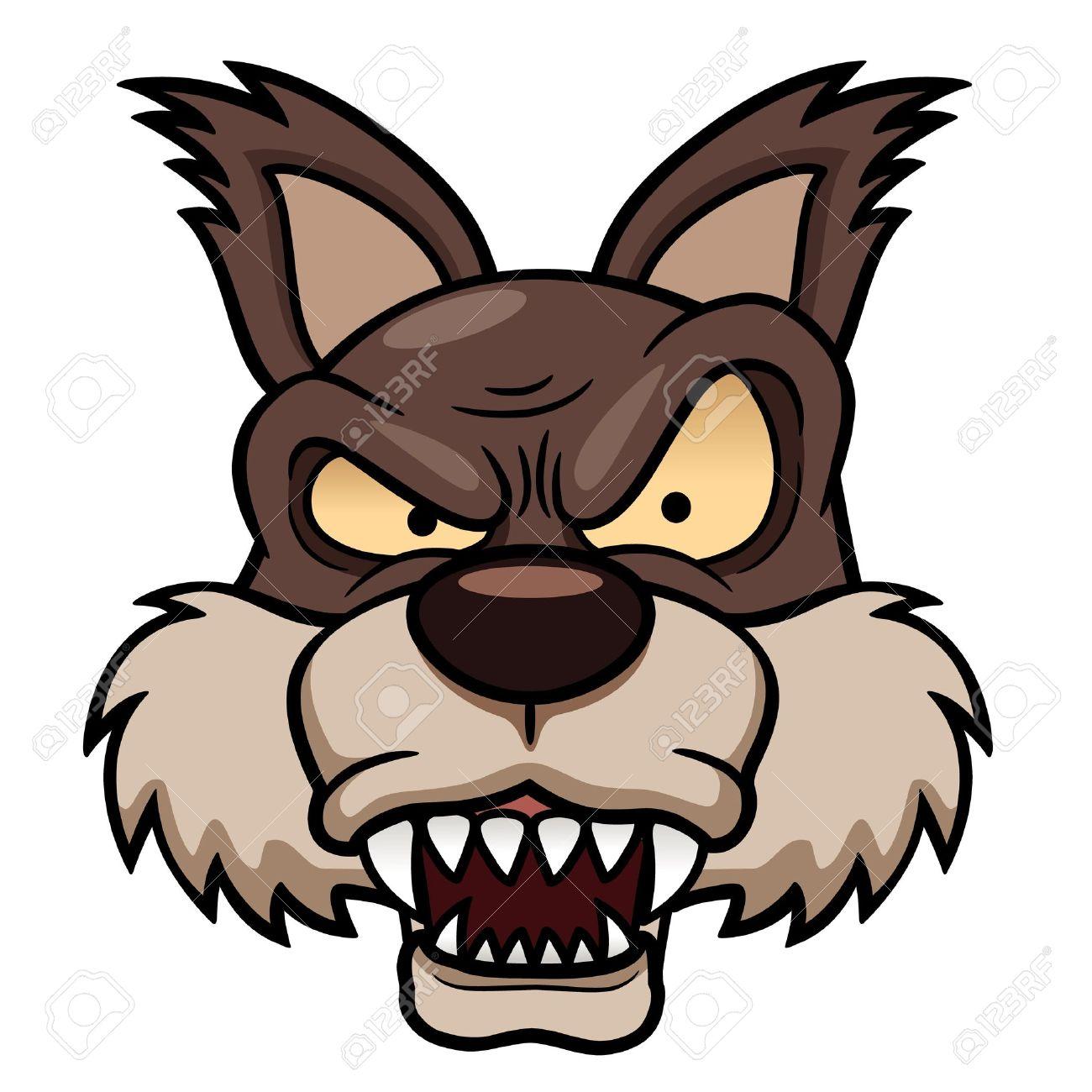 漫画のオオカミの顔のイラストのイラスト素材ベクタ Image 18000129