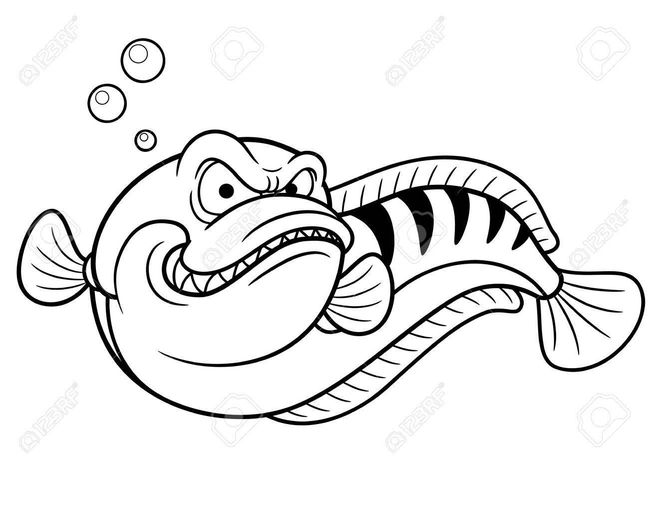 Vector Illustration Of Giant Snakehead Fish
