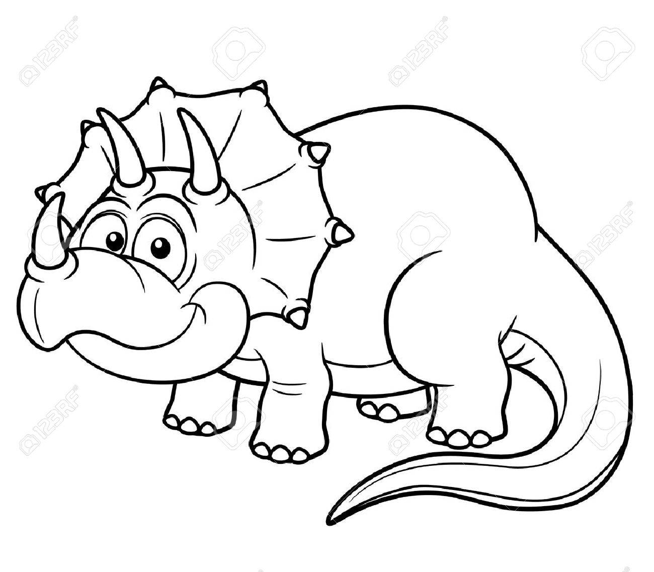 vector illustration of cartoon dinosaur coloring book stock vector 18093392 - Dinosaur Coloring Books