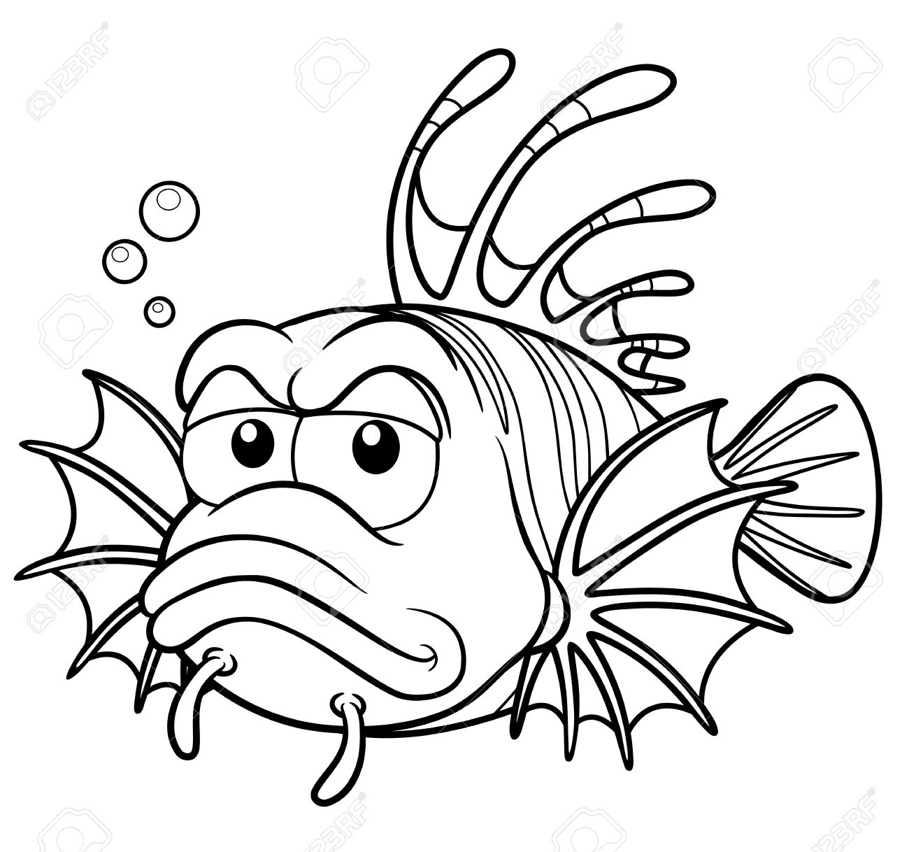 Lionfish Coloring Pages Bigking Keywords And Pictures