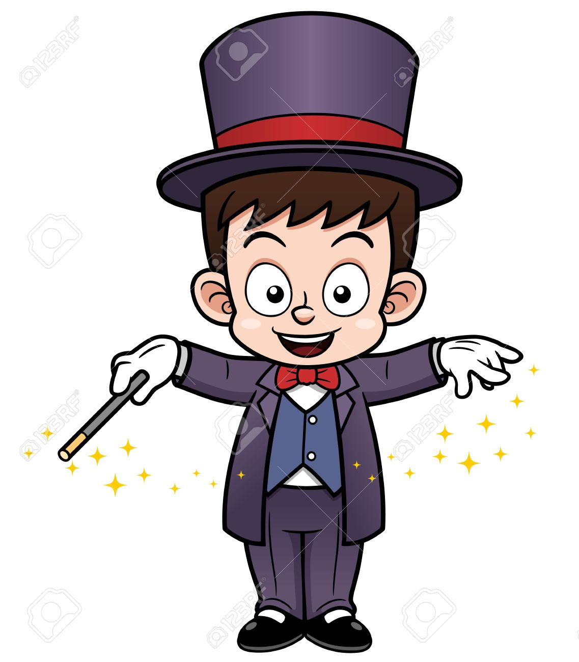 illustration of boy magician cartoon royalty free cliparts vectors rh 123rf com free magician clipart images clipart magician hat