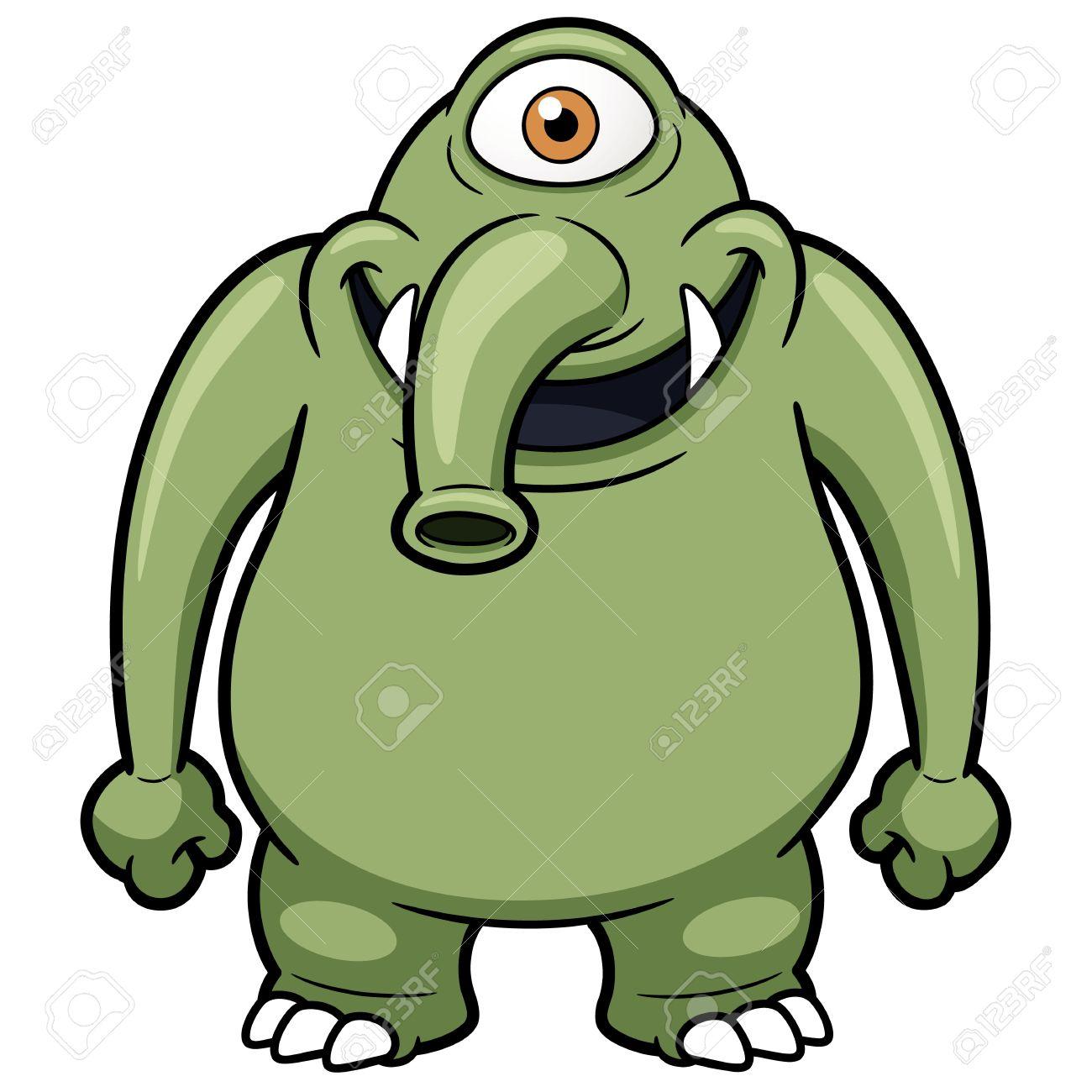 vector illustration of cartoon monster royalty free cliparts