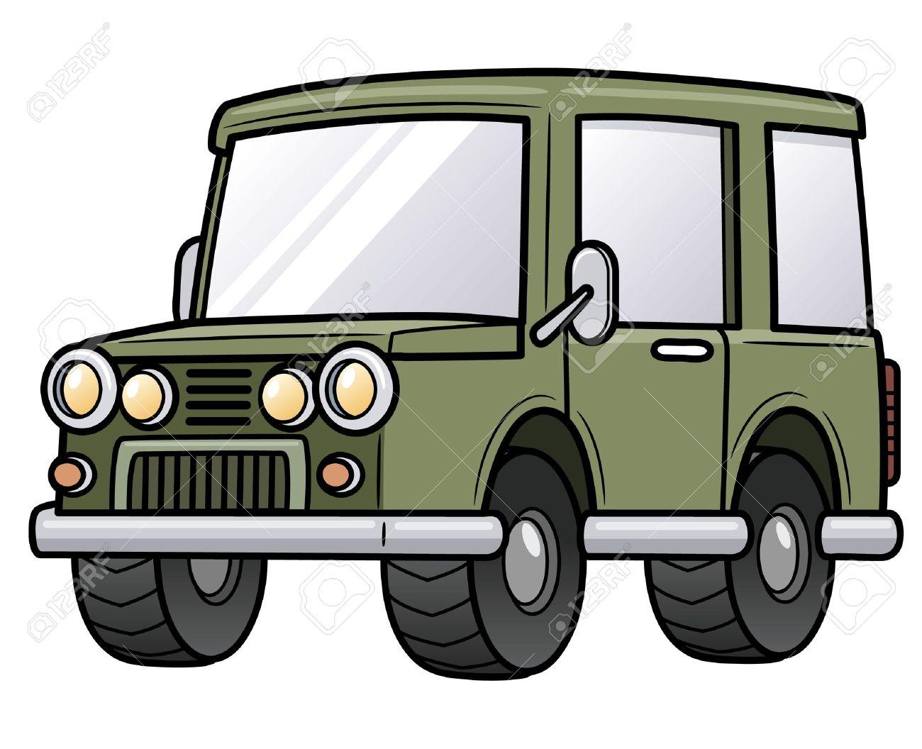 漫画のジープのベクトル イラストのイラスト素材ベクタ Image 19006207