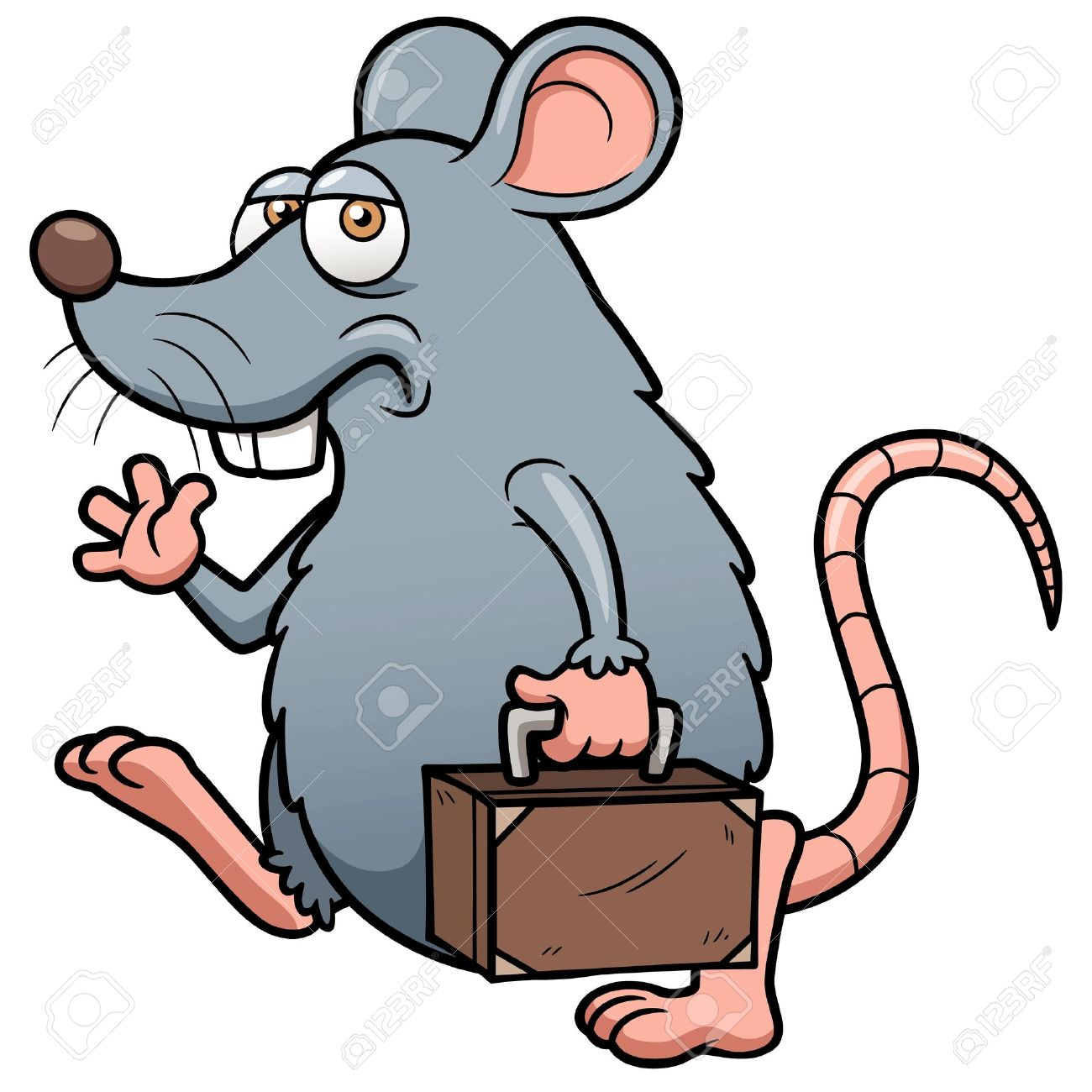 illustration of cartoon rat get out royalty free cliparts vectors