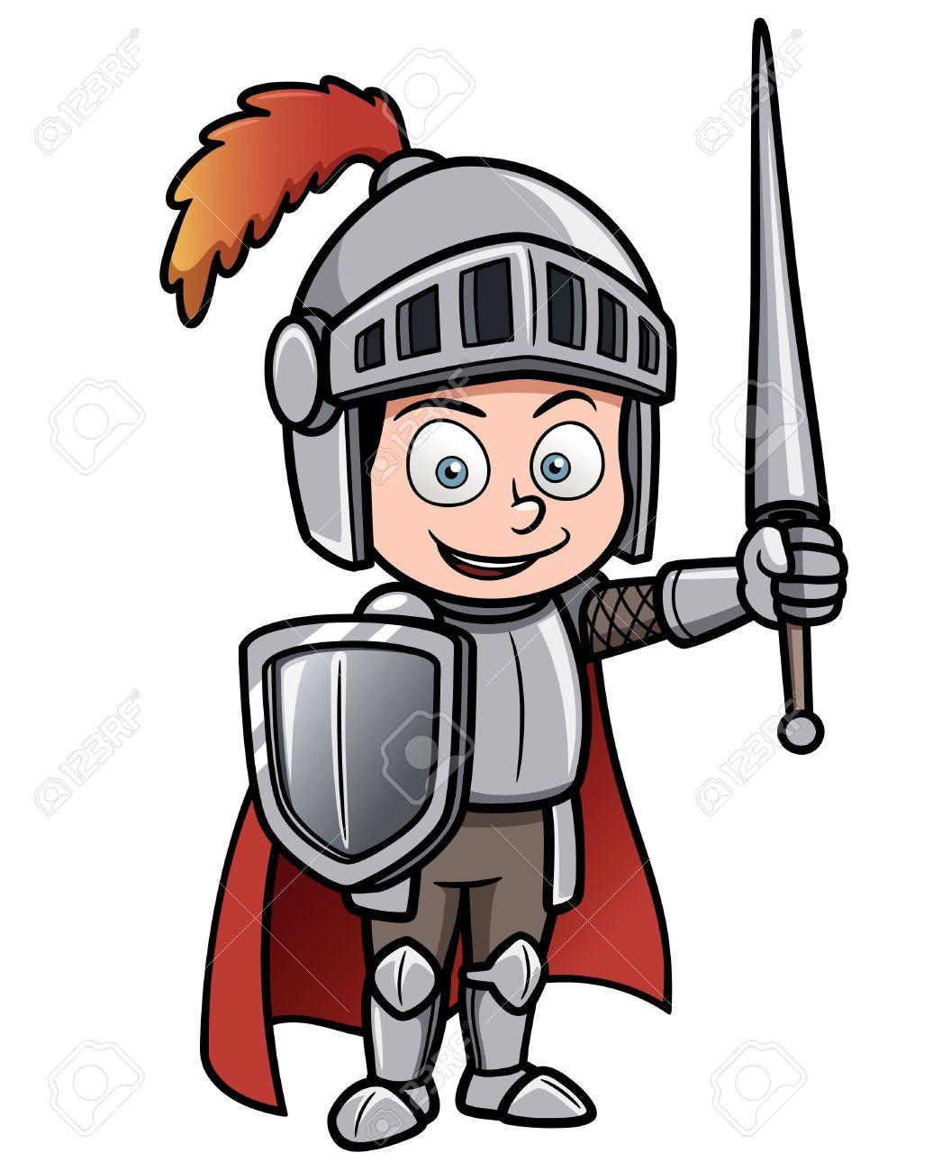 Dessin Chevalier vector illustration de chevalier de dessin animé clip art libres de