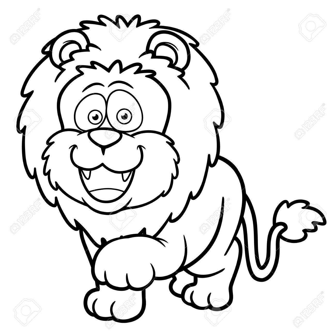 Lion guard coloring book - Vector Illustration Of Cartoon Lion Coloring Book Royalty Free