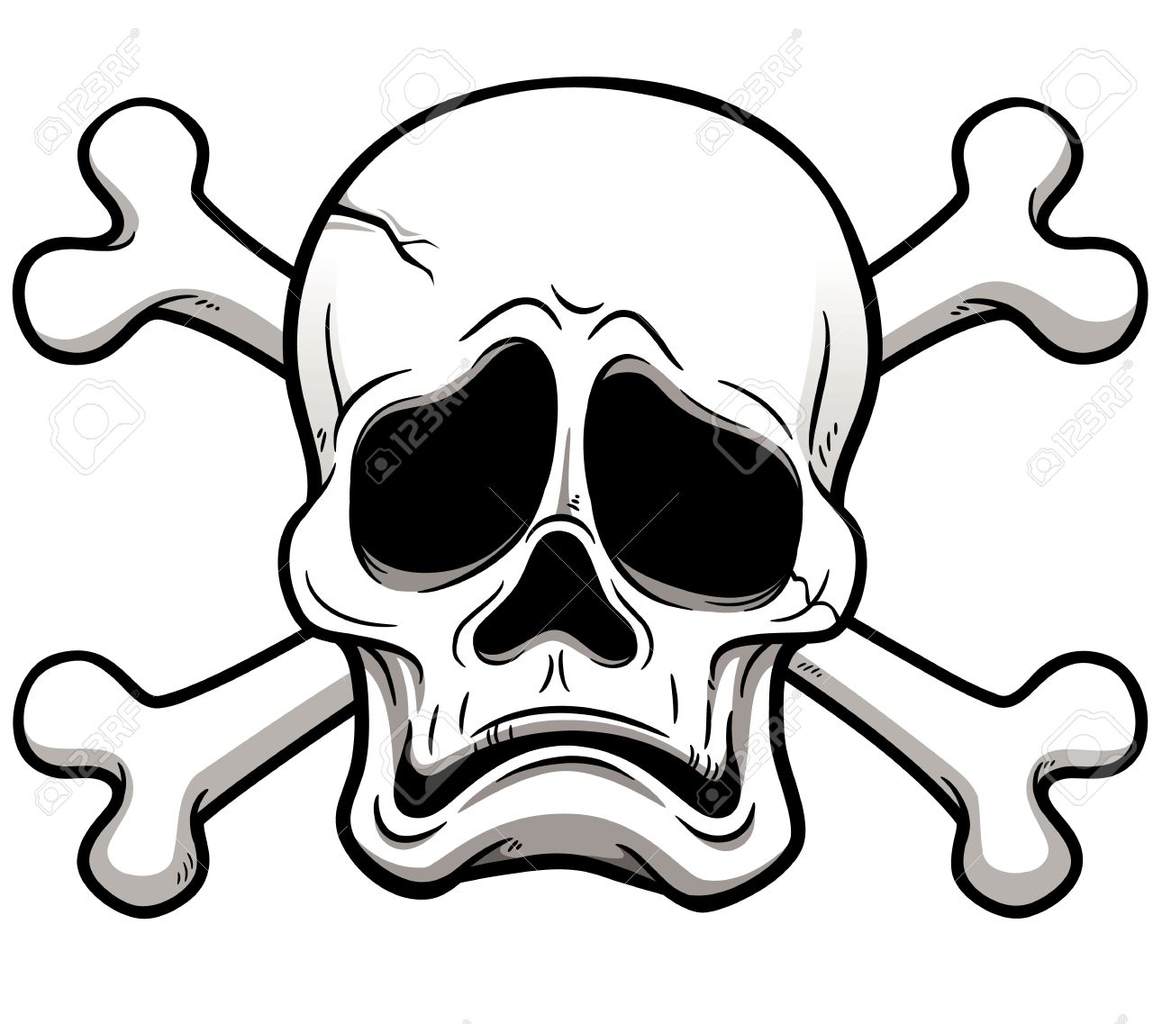 illustration of Skull and Crossbones Stock Vector - 19552790