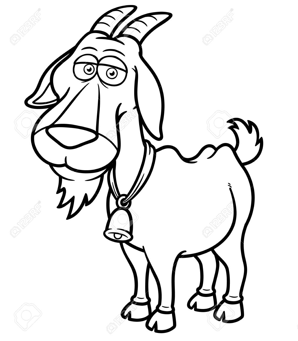 Coloring pictures goat - Vector Illustration Of Goat Cartoon Coloring Book Stock Vector 19717259