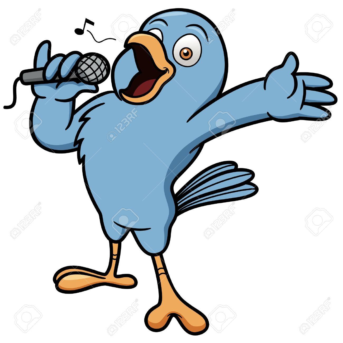 Ilustración Del Vector De La Historieta Del Pájaro Del Canto ...