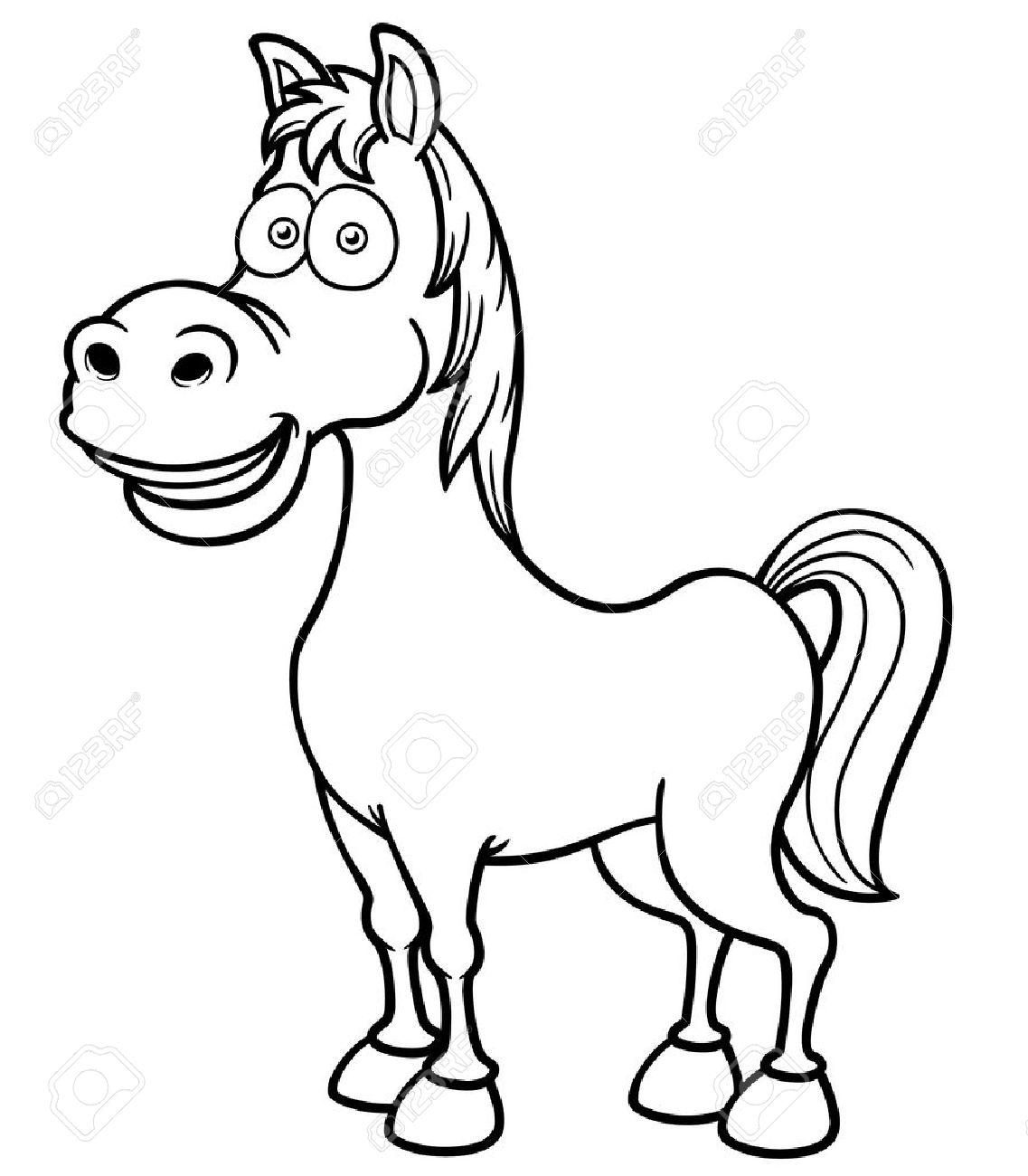 Vector Illustration Of A Horse Coloring Book Royalty Free Cliparts