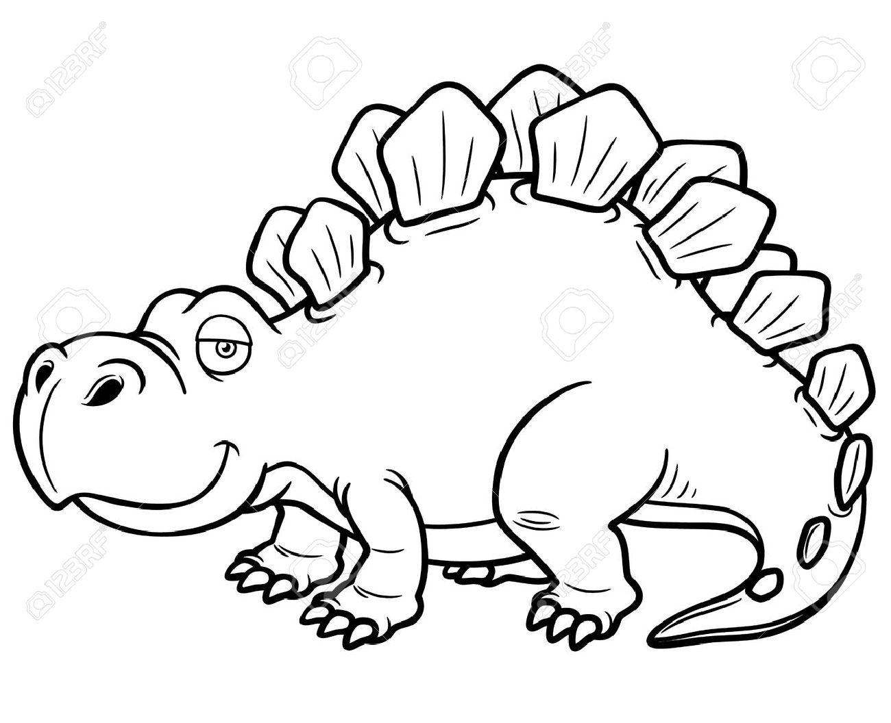 illustration of cartoon dinosaur coloring book stock vector 20275352