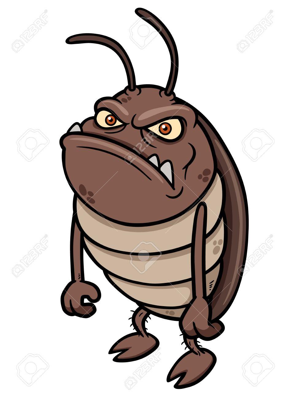 Vector illustration of cartoon cockroach Stock Vector - 20480618