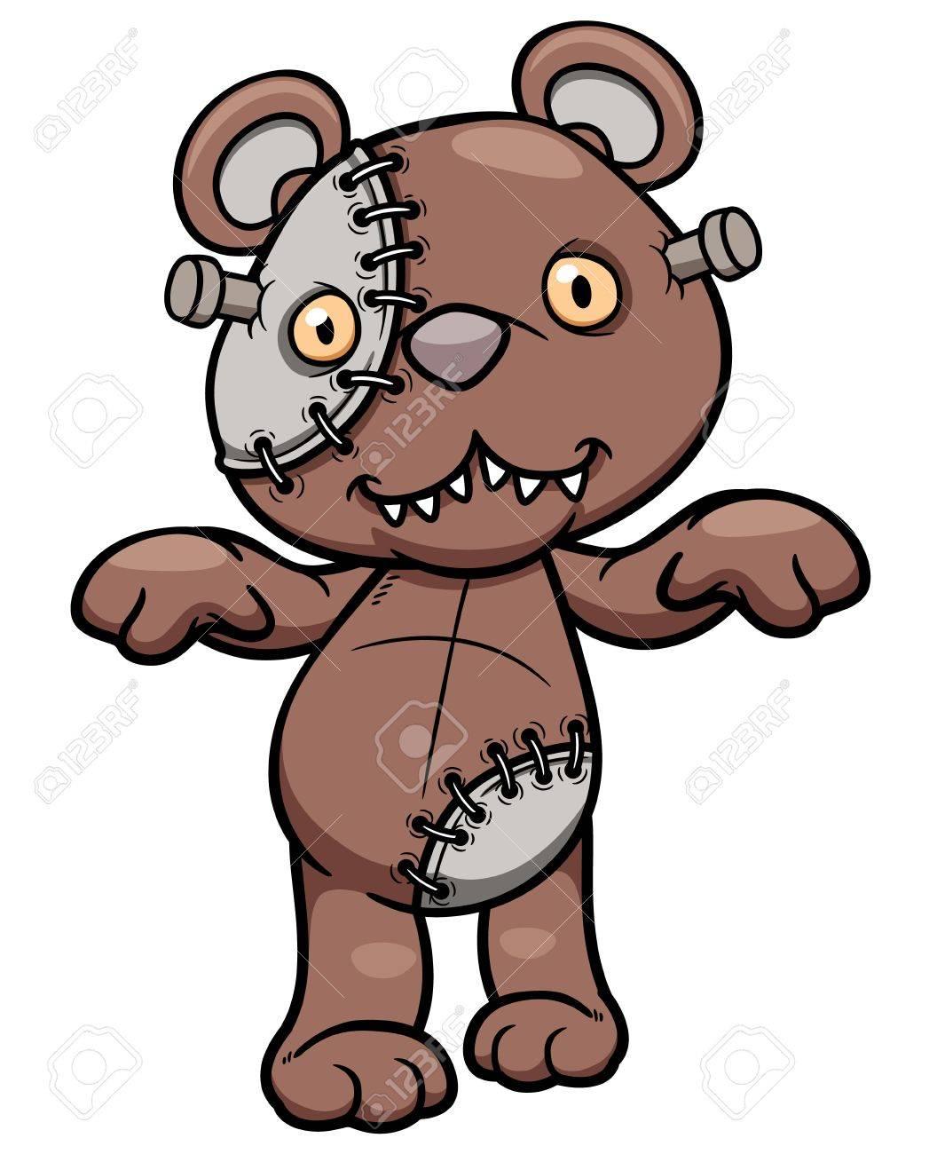 Vector illustration of Evil teddy bear Stock Vector - 20480631