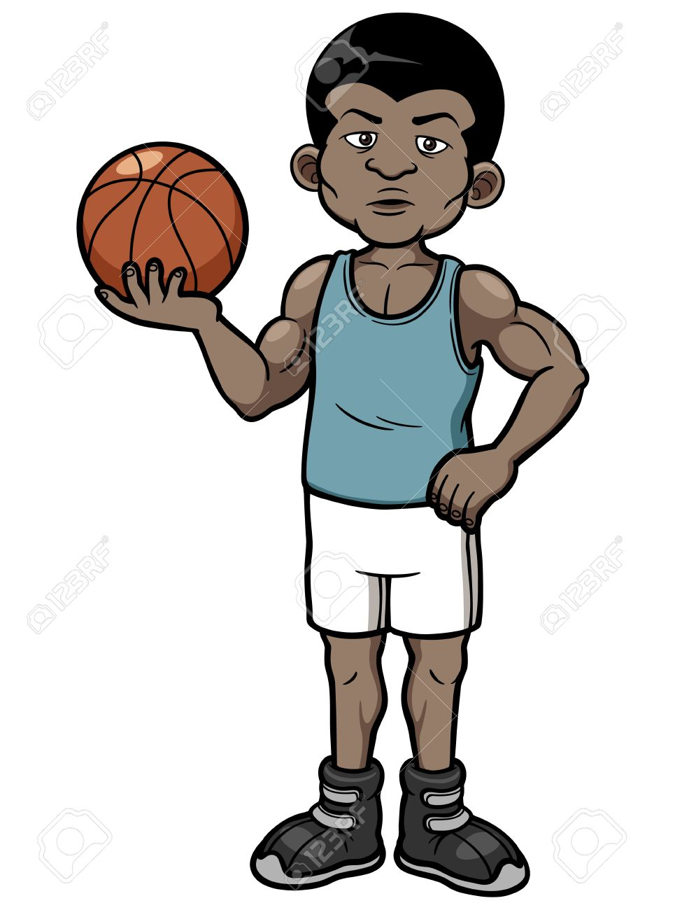 Vector Illustration Of Cartoon Basketball Player Royalty Free Cliparts Vectors And Stock Illustration Image 20480644 Choose from 210+ cartoon basketball graphic resources and download in the form of png, eps, ai or psd. vector illustration of cartoon basketball player