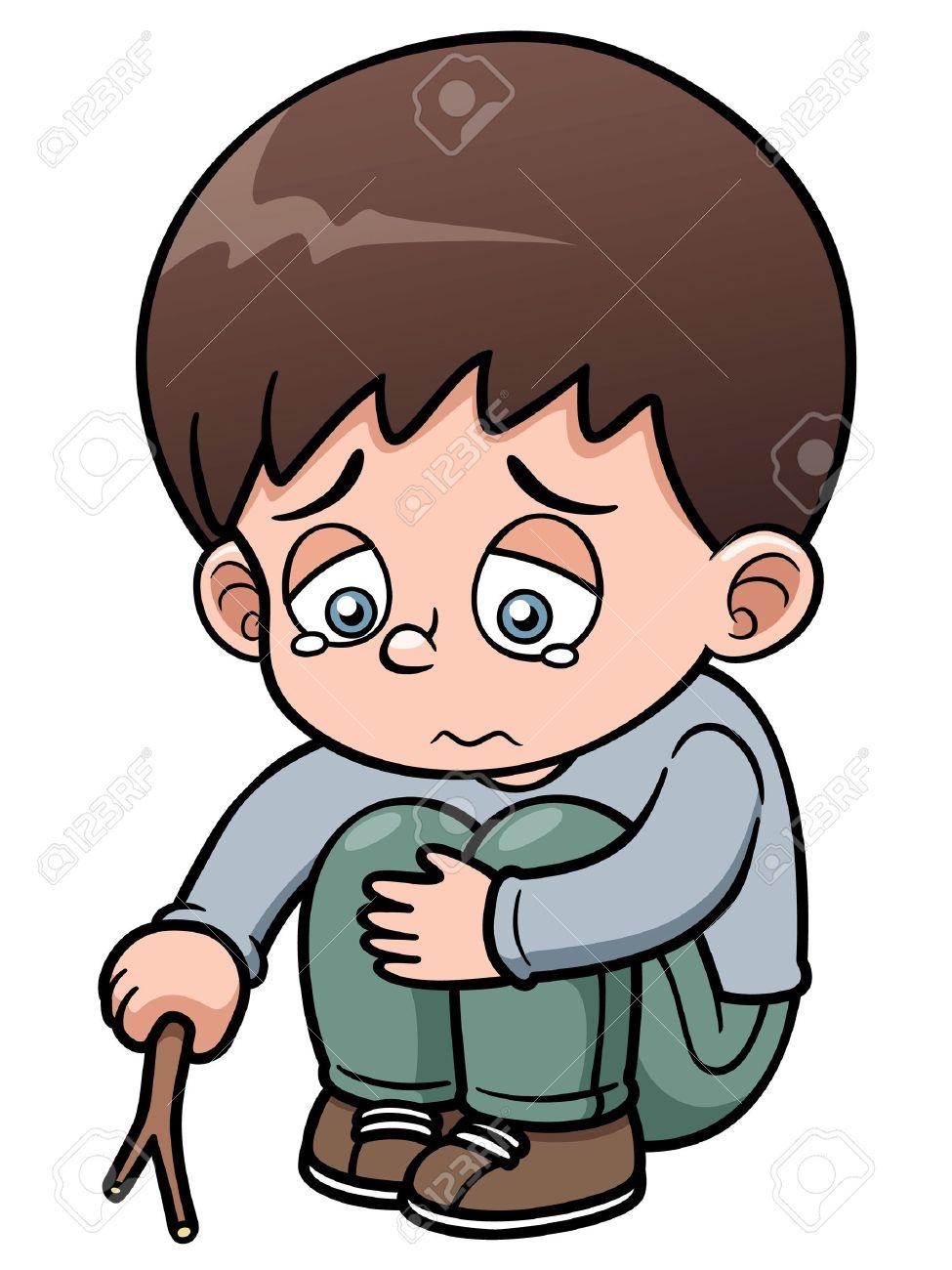 Illustration of sad boy stock vector 21453041