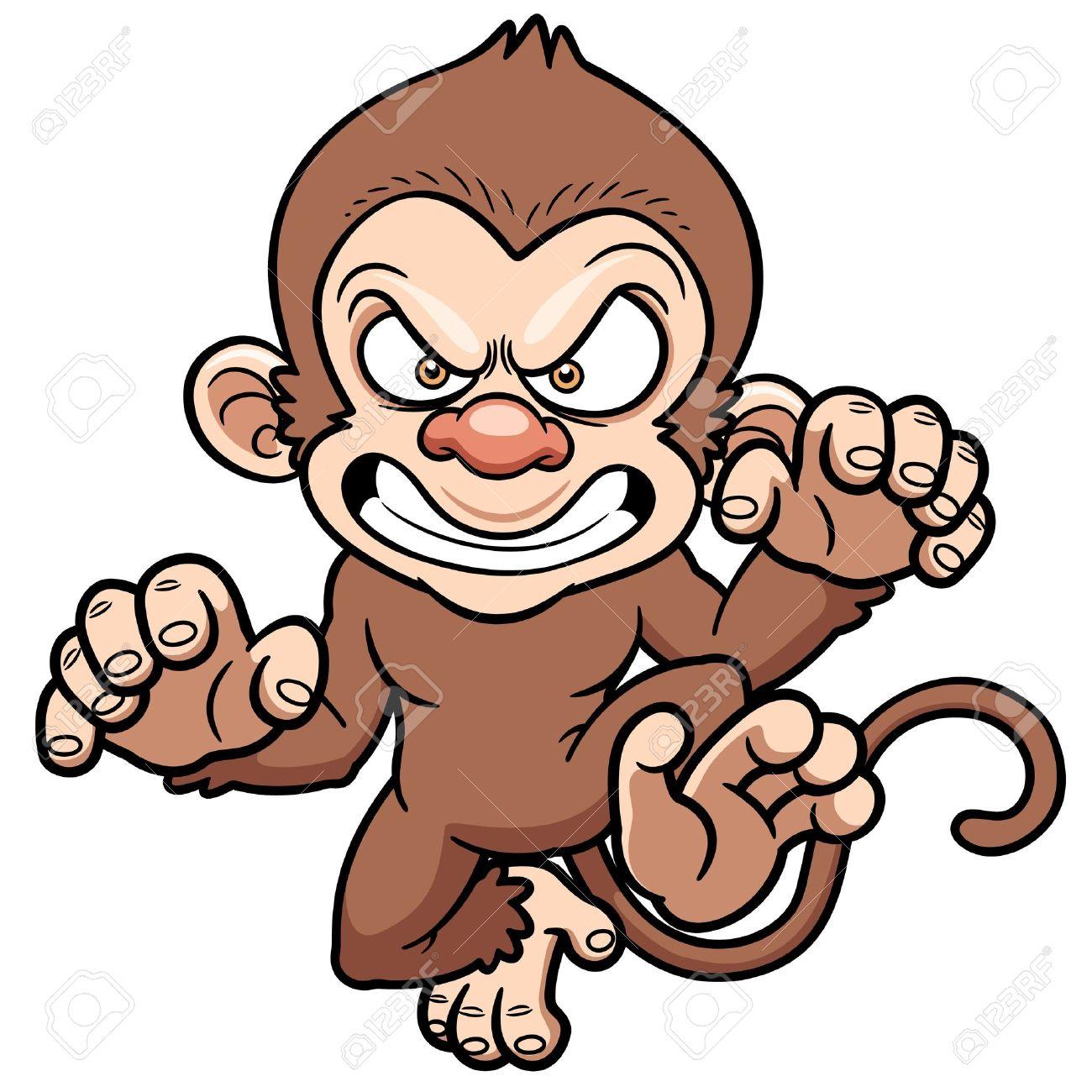 Illustration Of Cartoon Angry Monkey Stock Vector   21453120