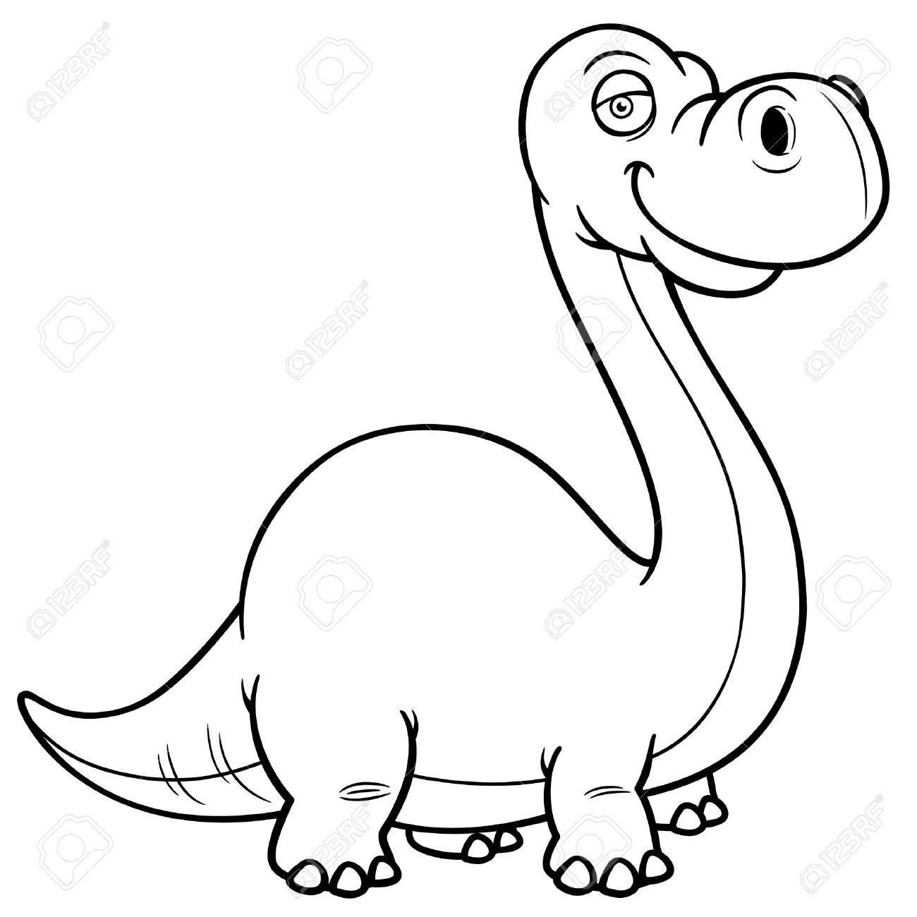 Ilustración Del Vector Del Dinosaurio Del Libro De Dibujos Animados ...