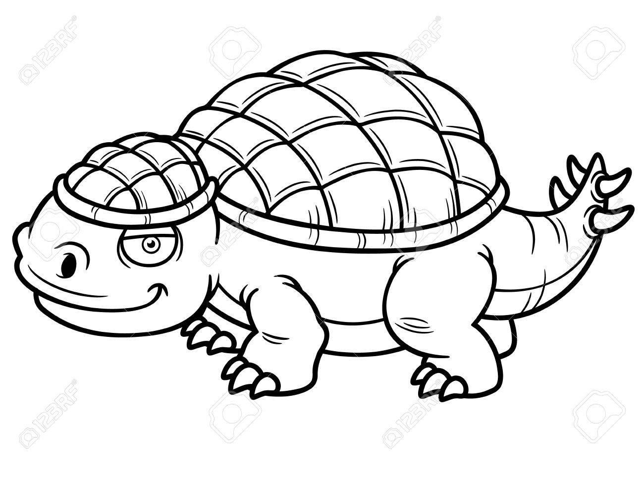 Ilustración Del Vector Del Dinosaurio Del Libro De Dibujos Animados Para Colorear