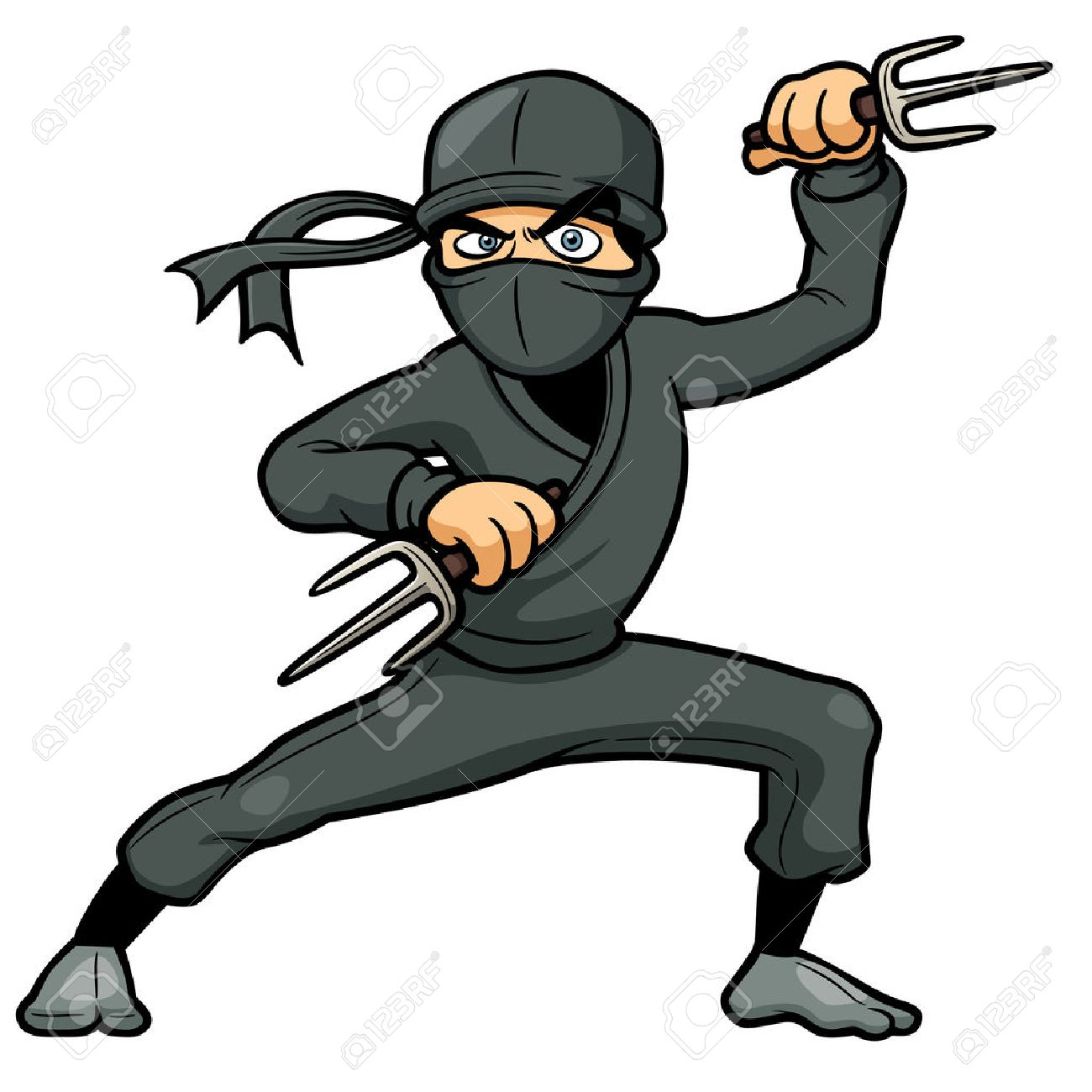 vector illustration of cartoon ninja royalty free cliparts vectors rh 123rf com female ninja cartoon pictures ninja cartoon picture download