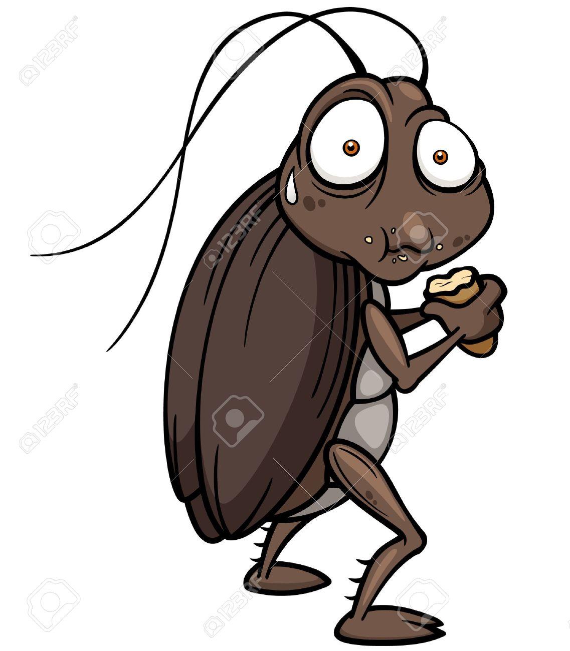 ベクトル イラスト漫画ゴキブリを食べるののイラスト素材ベクタ