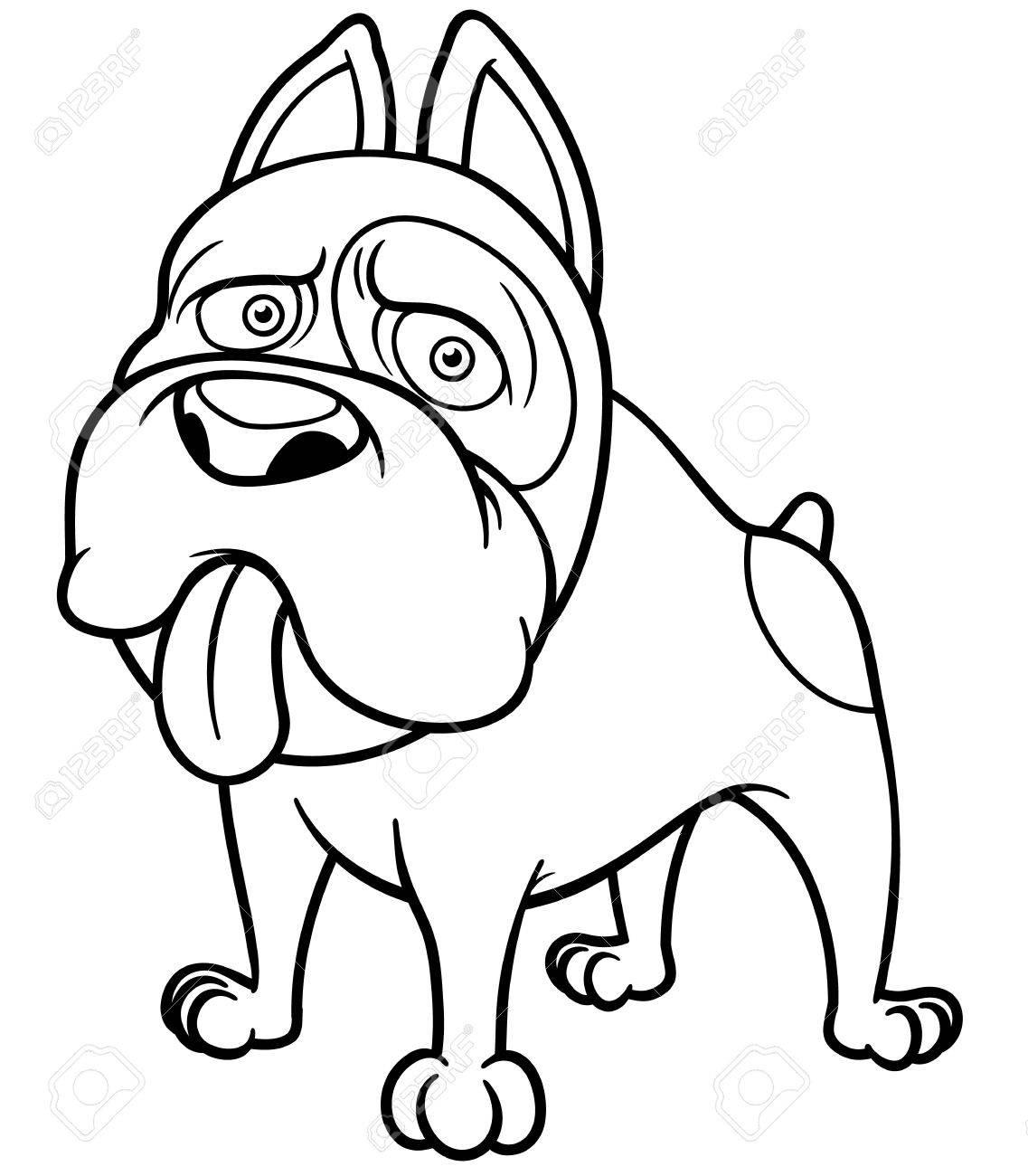 vector illustration of cartoon dog coloring book stock vector 24681208