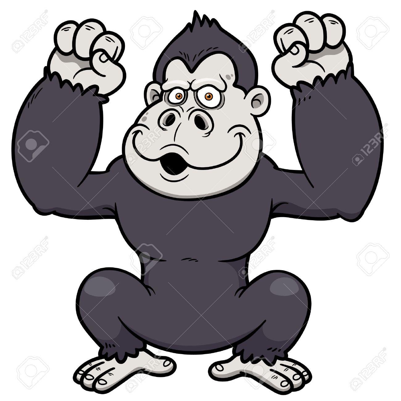 Cartoon Purple Gorilla of Gorilla Cartoon Vector