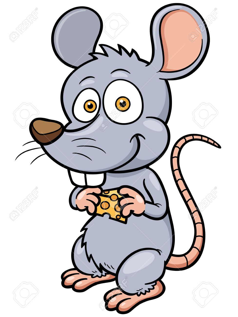 Cute rat cartoon