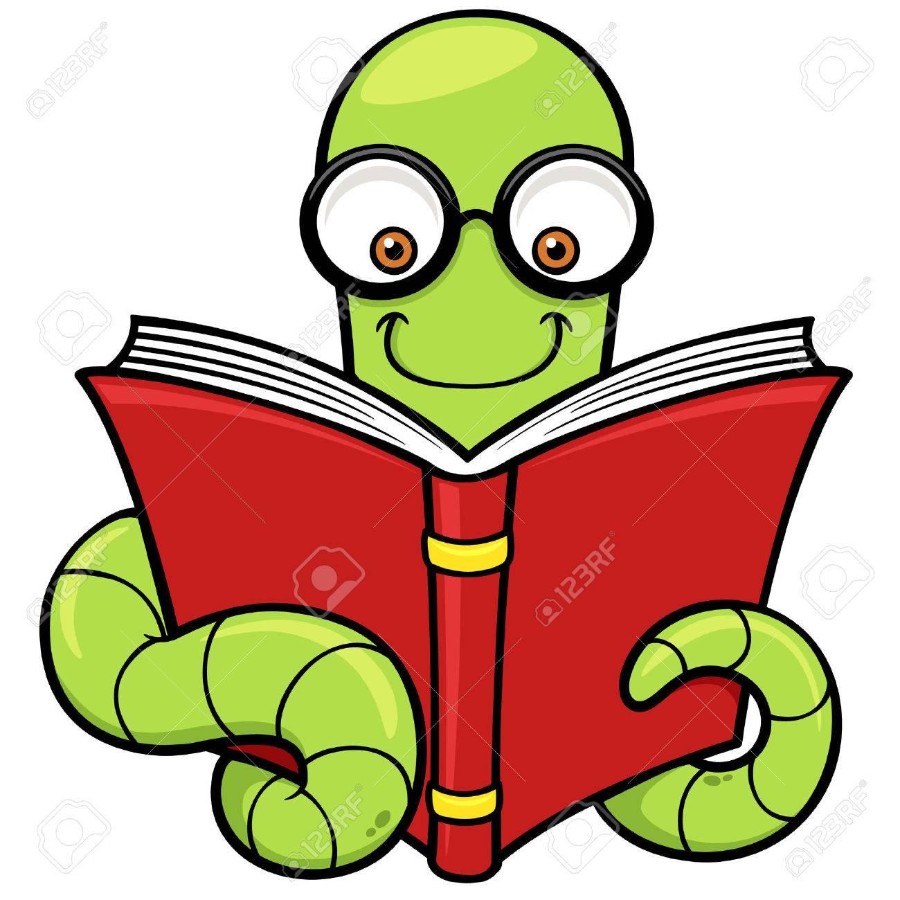 vector illustration of cartoon book worm royalty free cliparts rh 123rf com Bookworm Clip Art Black and White Cute Bookworm