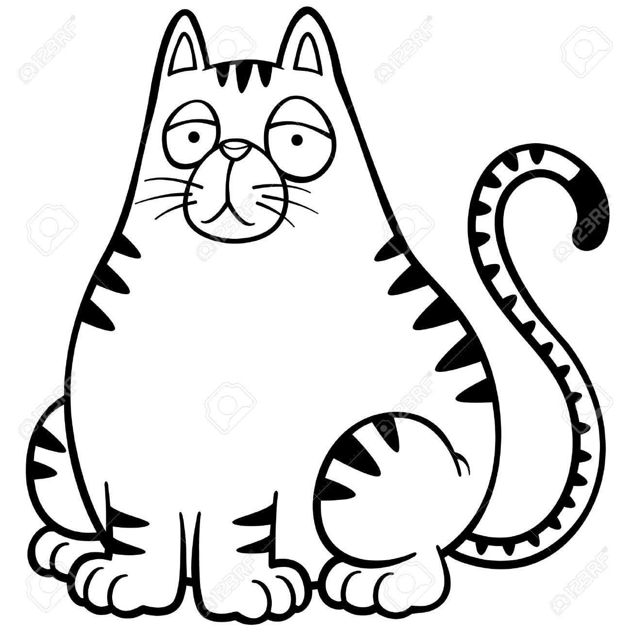 vector illustration of cat cartoon coloring book stock vector 27322020 - Cat Coloring Book