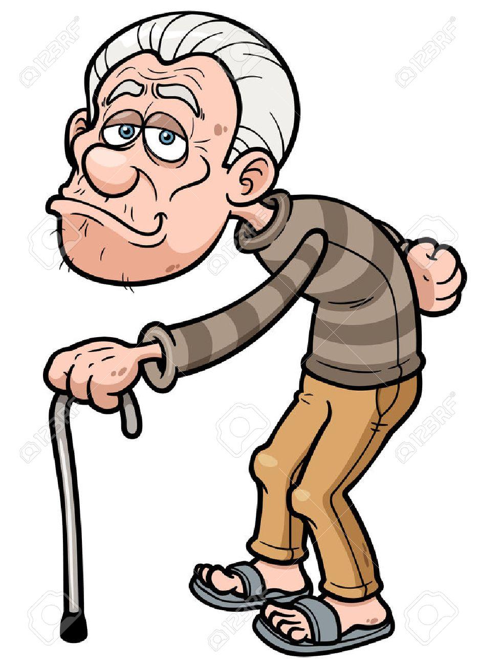 vector illustration of cartoon old man royalty free cliparts rh 123rf com old man cartoon charactoer old man cartoons images free