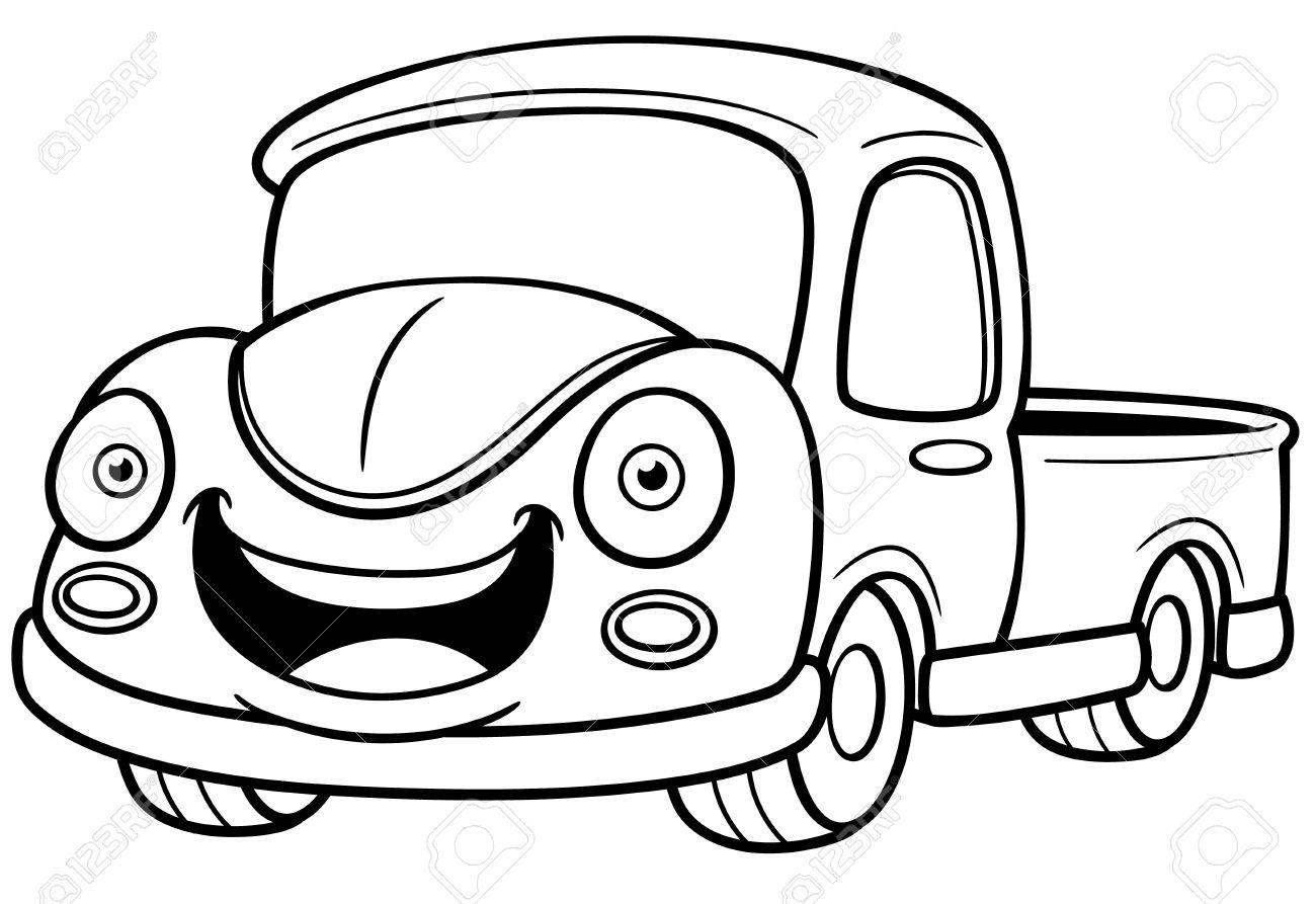 Ilustración Del Vector De Recogida De Coches De Dibujos Animados ...