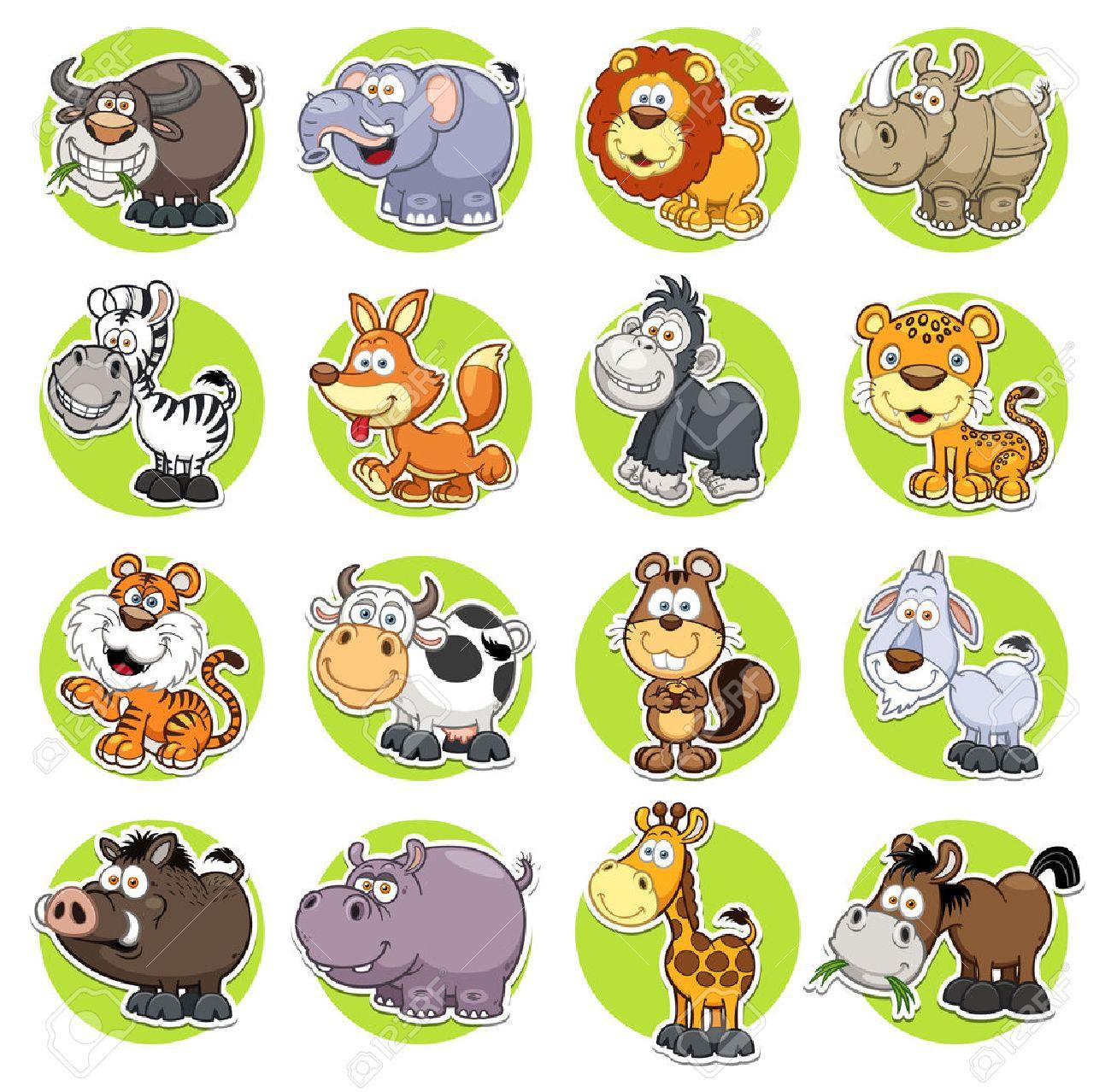 illustration of Animals set Cartoon - 28881901