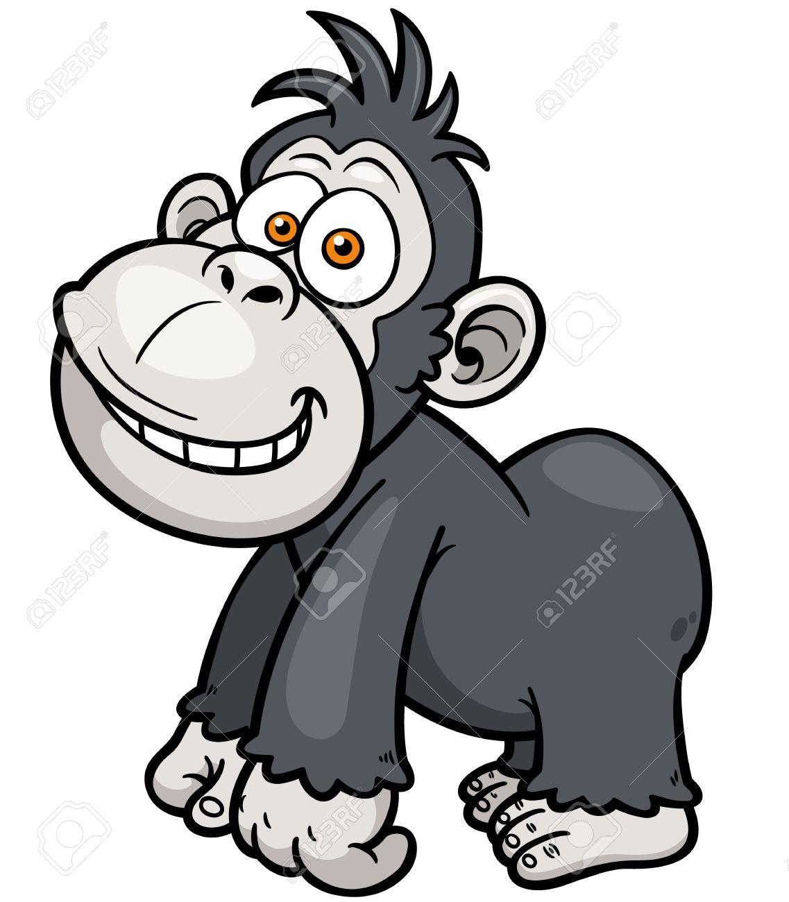 Illustration De Dessin Anime Gorille Clip Art Libres De Droits Vecteurs Et Illustration Image 28869783