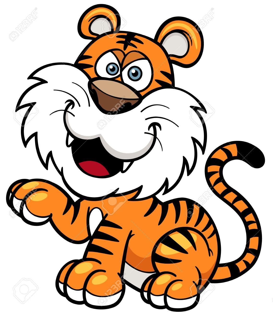 Tiger cartoon clipart - ClipartFest