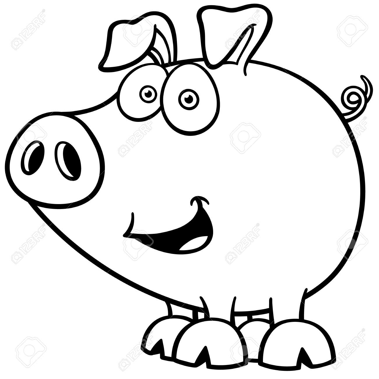 Fantástico Libro Para Colorear Cerdo Bandera - Ideas Para Colorear ...