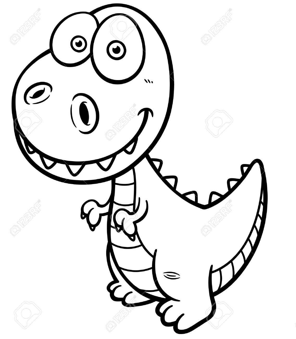 Ilustración Del Vector Del Dinosaurio De La Historieta - Libro Para ...