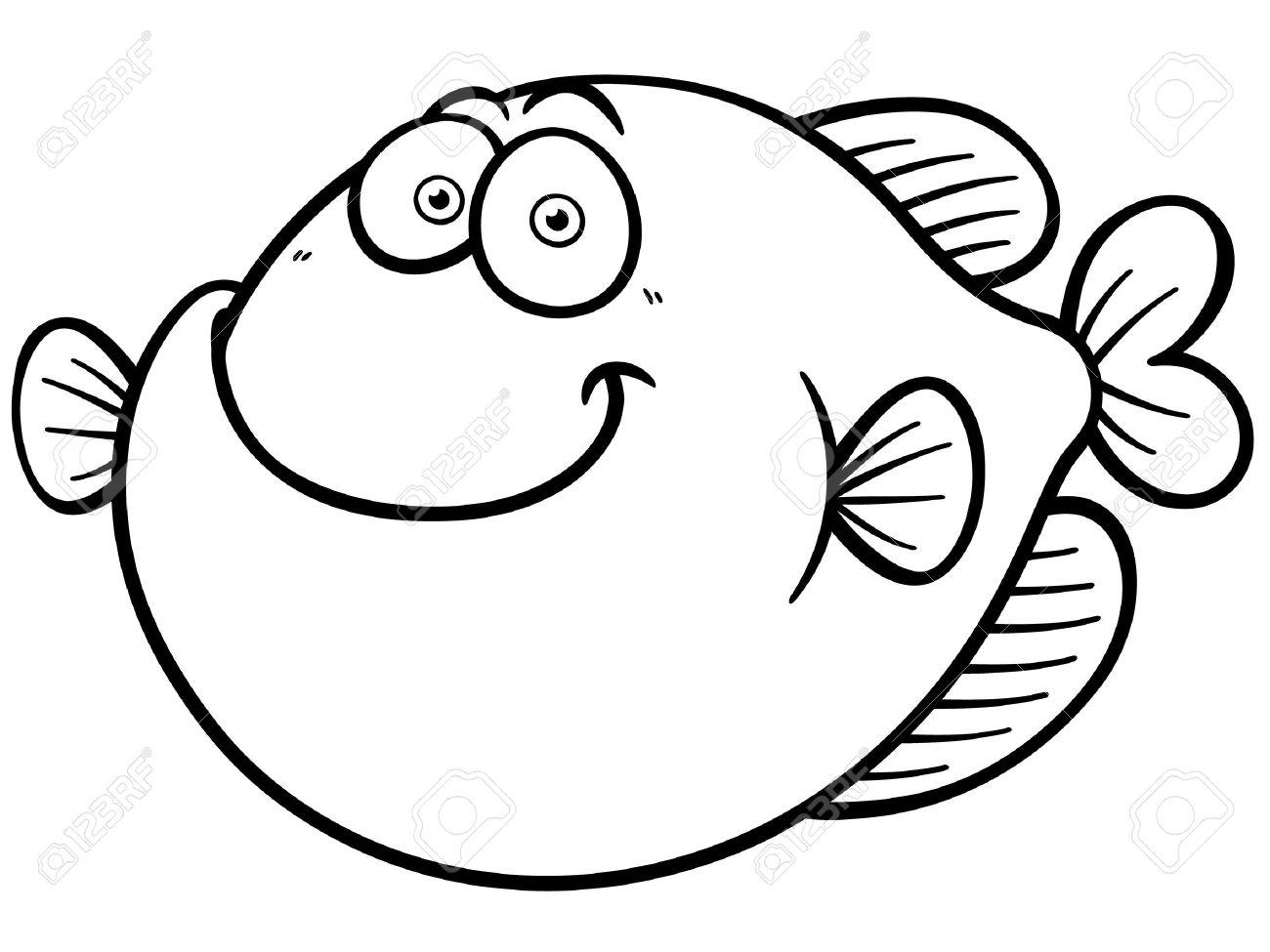 Ilustración Del Vector De La Historieta De Los Pescados Libro Para
