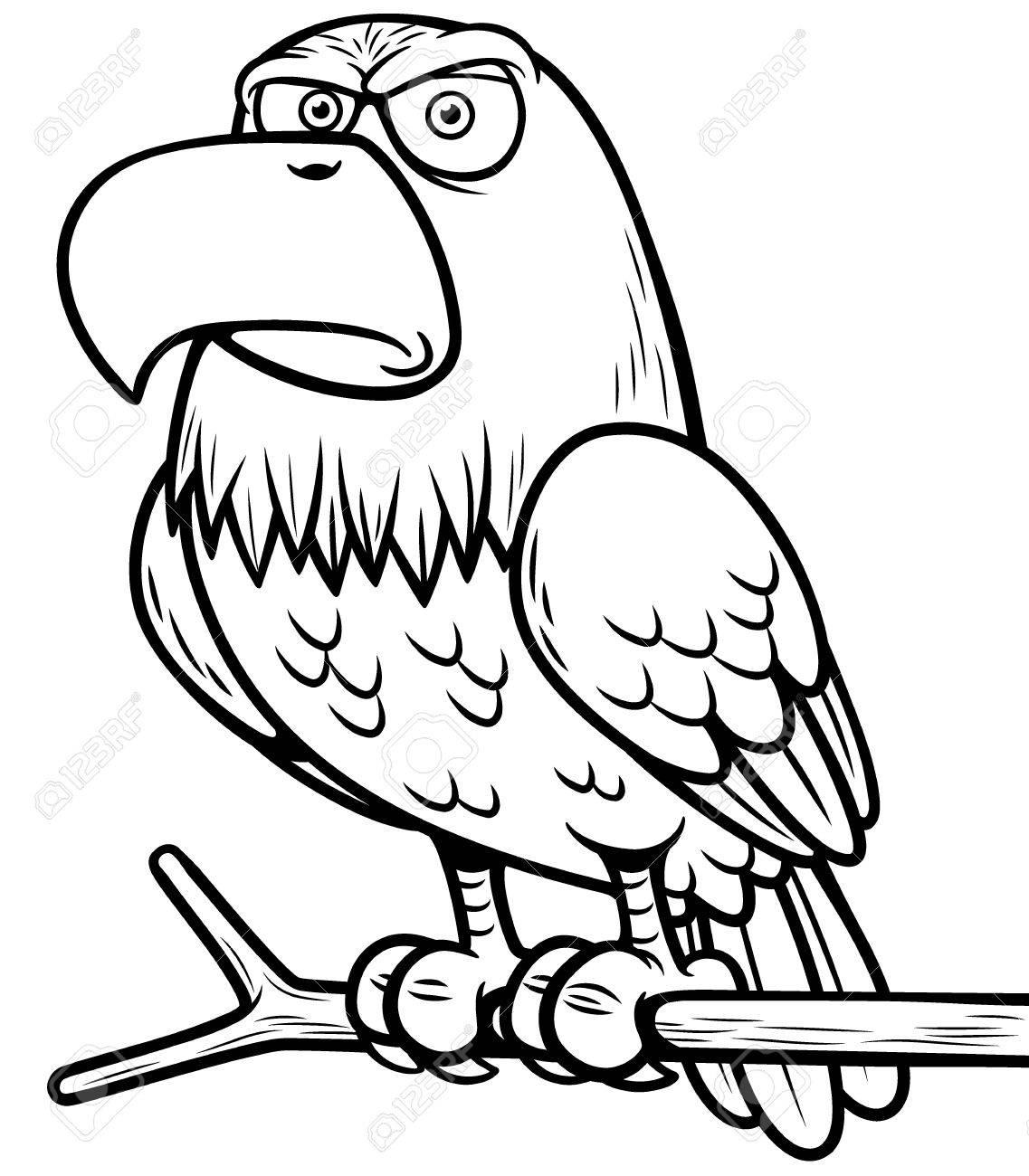 Ilustración Del águila De Dibujos Animados Libro Para Colorear