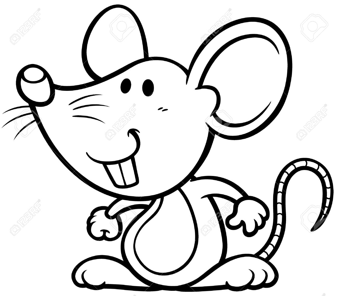 vector illustration of cartoon rat coloring book stock vector 31497011