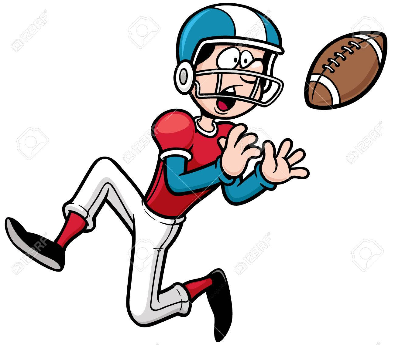 Vector Illustration Of Cartoon American Football Player Royalty Free Cliparts Vectors And Stock Illustration Image 31526217