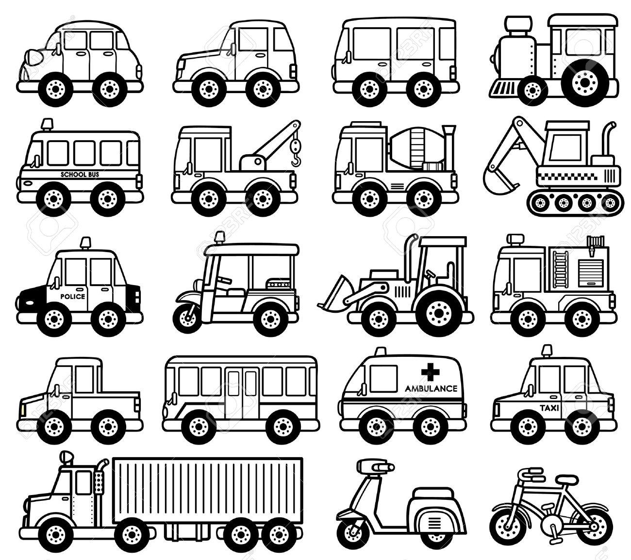 Famoso Colorear Vehículos Bosquejo - Dibujos Para Colorear En Línea ...