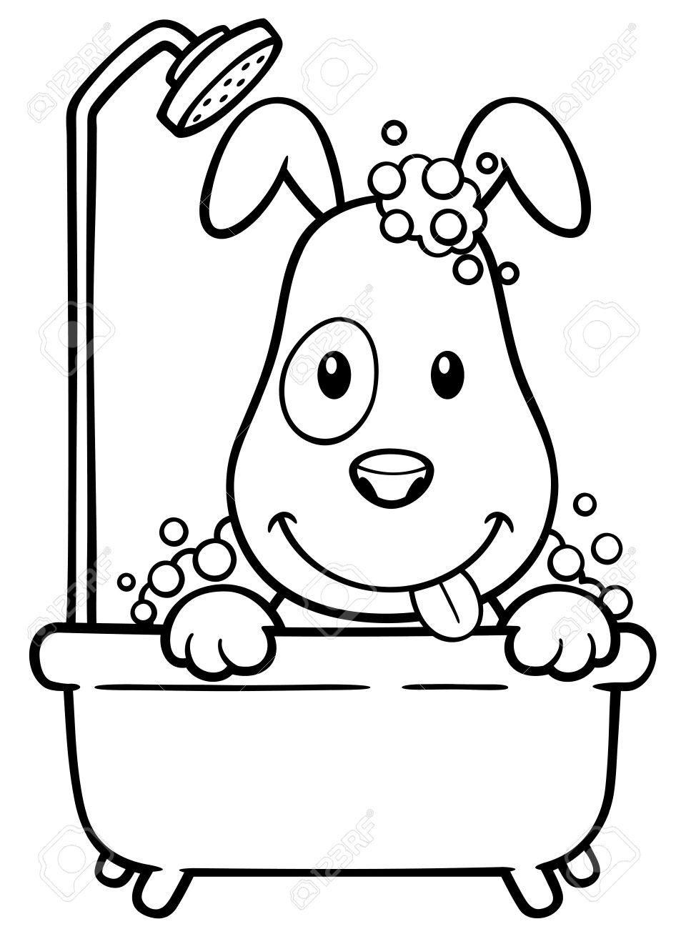 Dibujo De Un Perro Animado Para Colorear Apanageetcom