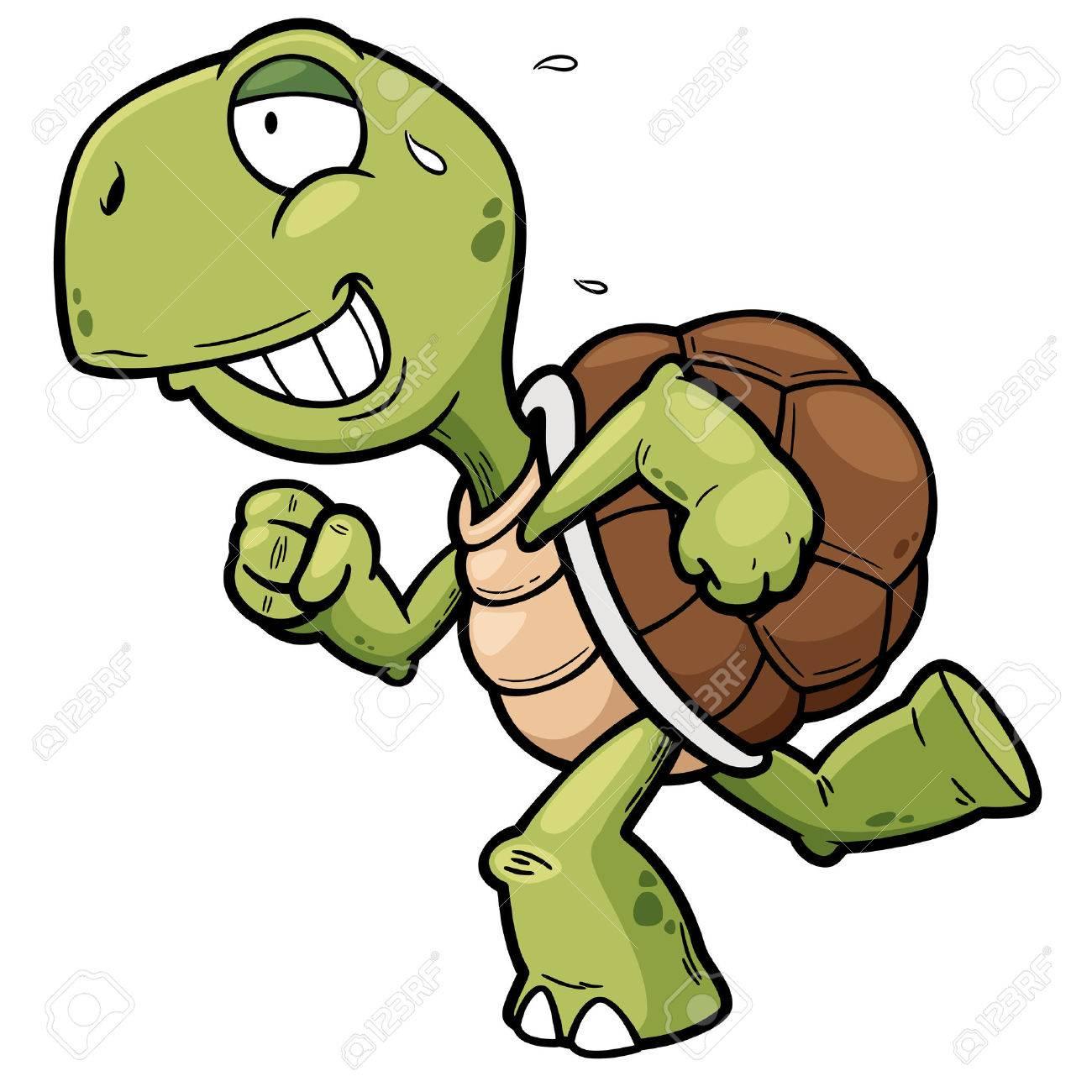 Vector illustration of Cartoon turtle - 36652079