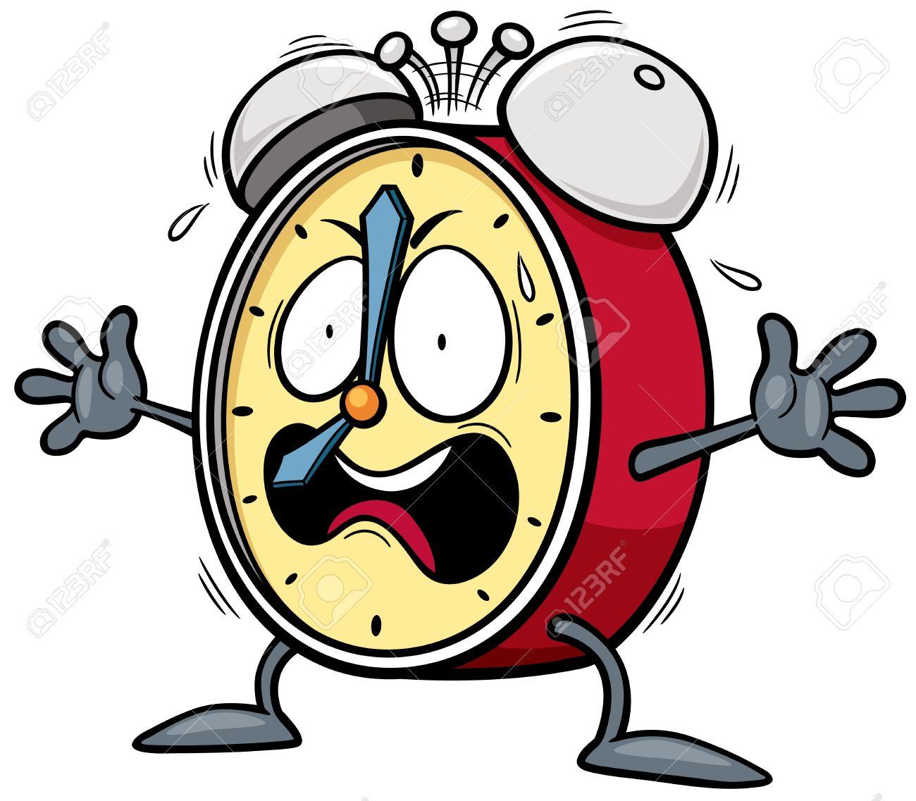 Vector illustration of Cartoon Alarm clock - 37481495