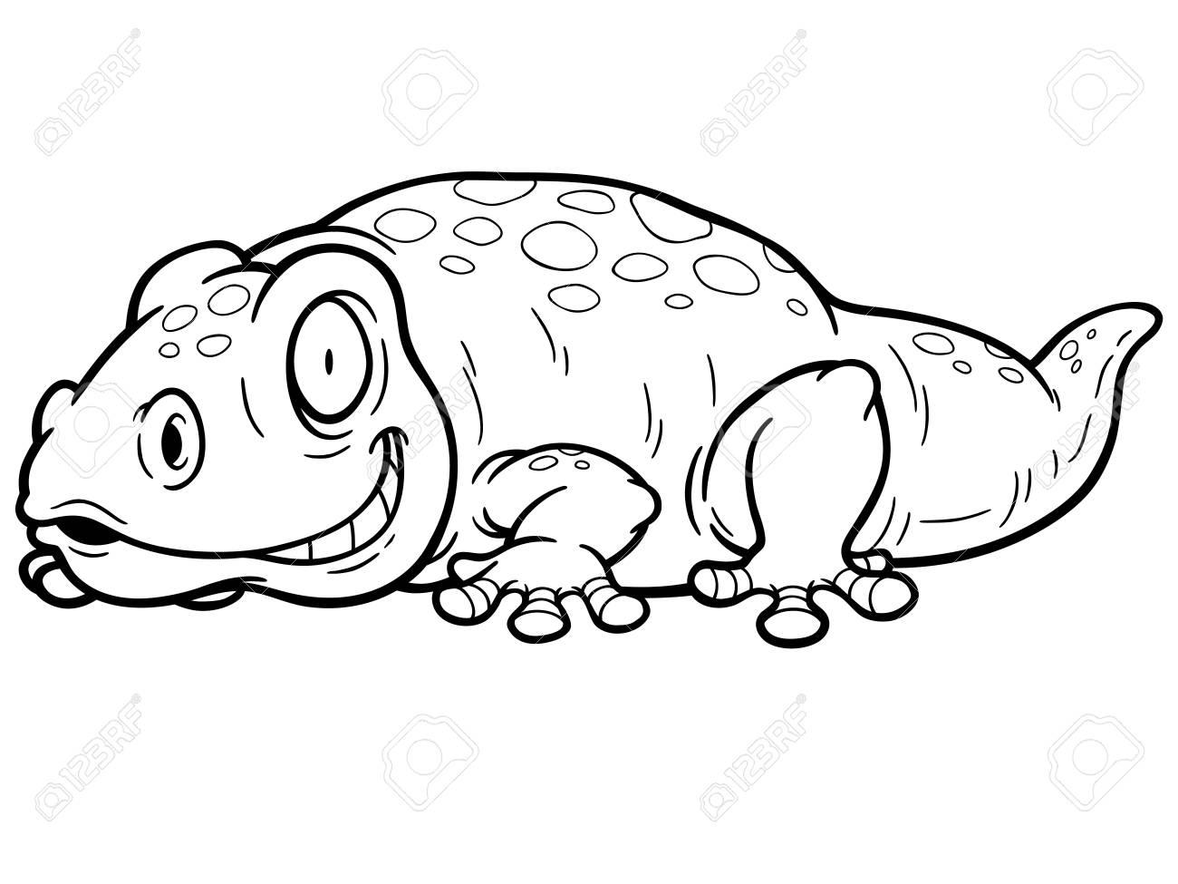 Hermosa Gecko Leopardo Para Colorear Bandera - Dibujos Para Colorear ...