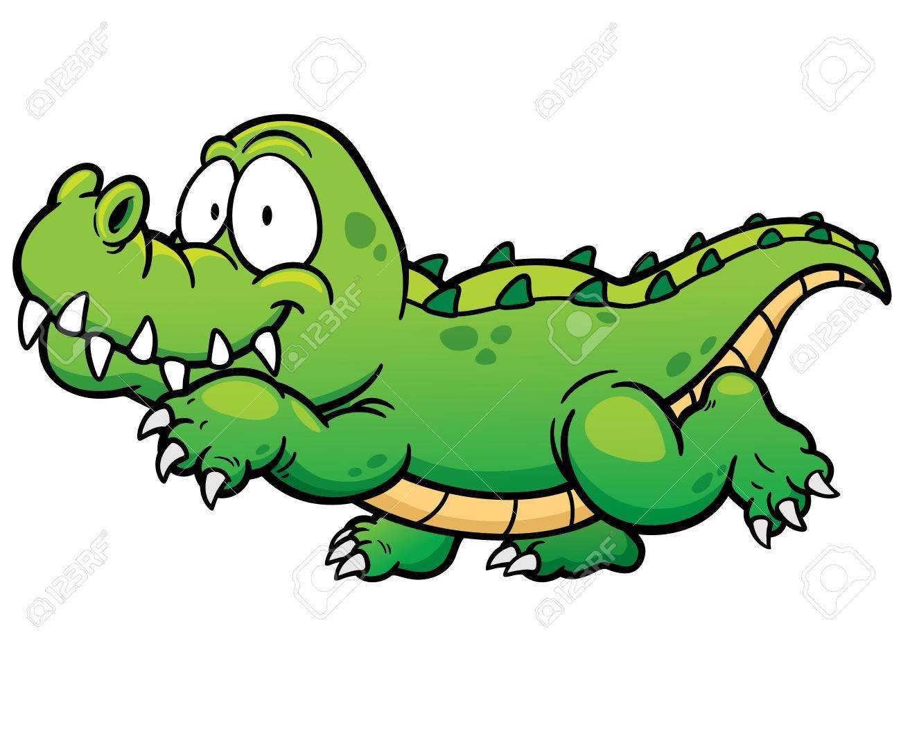 Vector illustration of Cartoon crocodile - 42859221