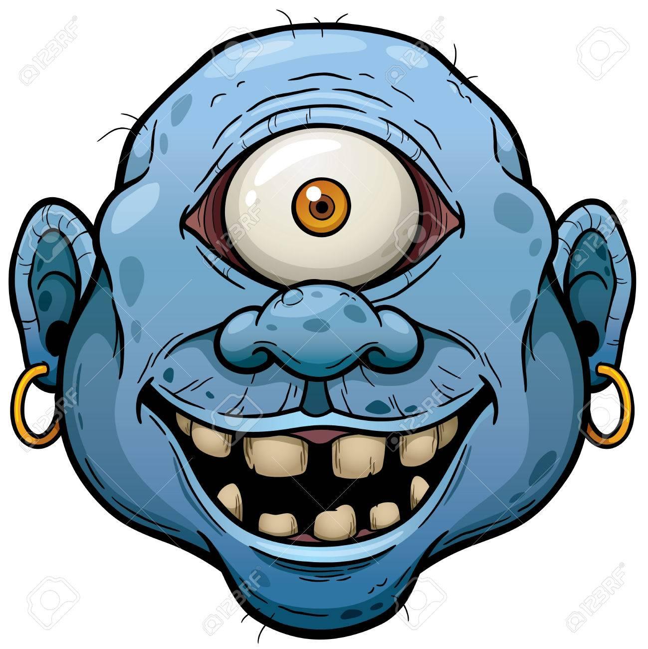 Vector illustration of Cartoon Monster face - 47416204