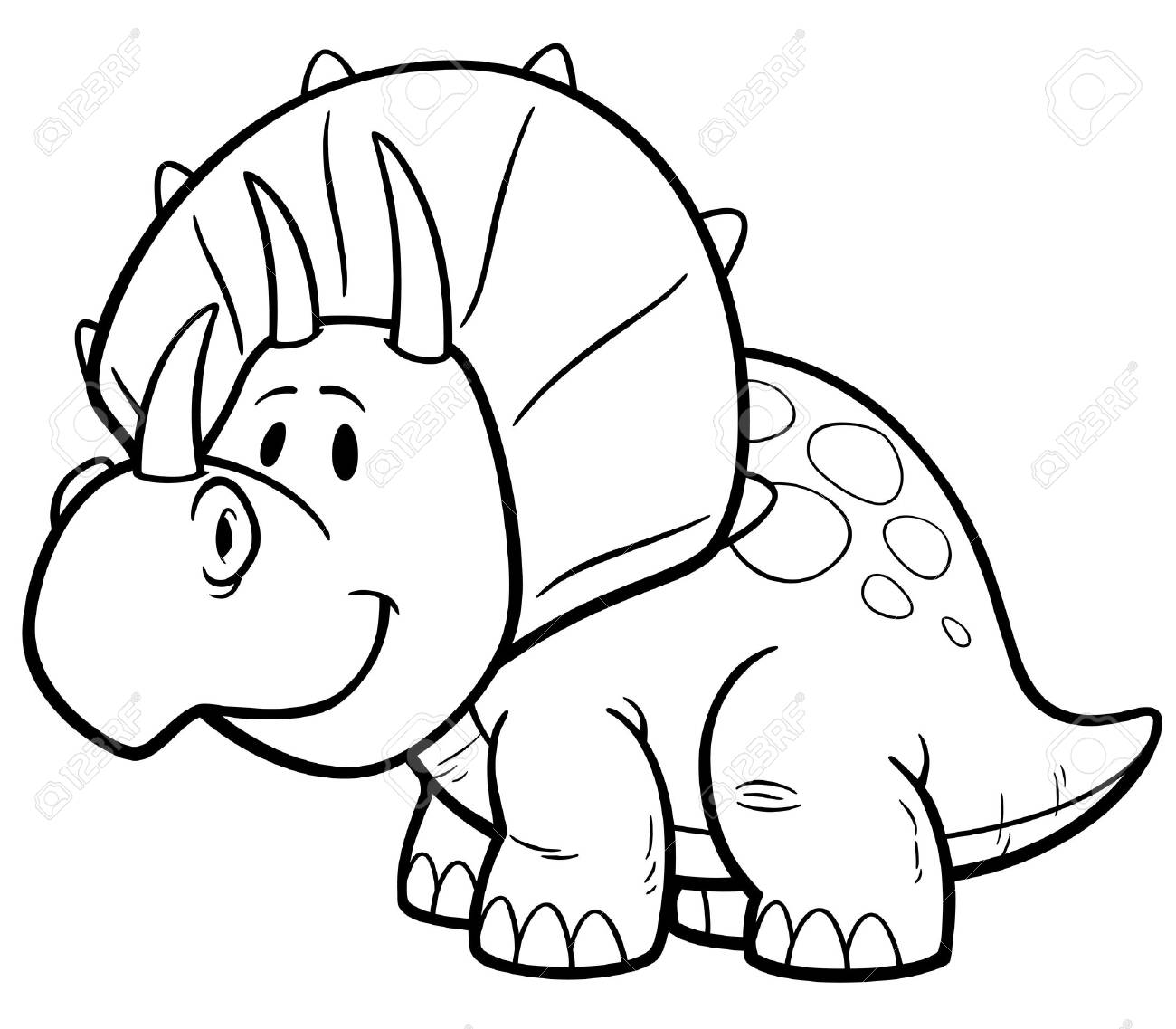 - Illustration Of Dinosaurs Cartoon - Coloring Book Royalty Free