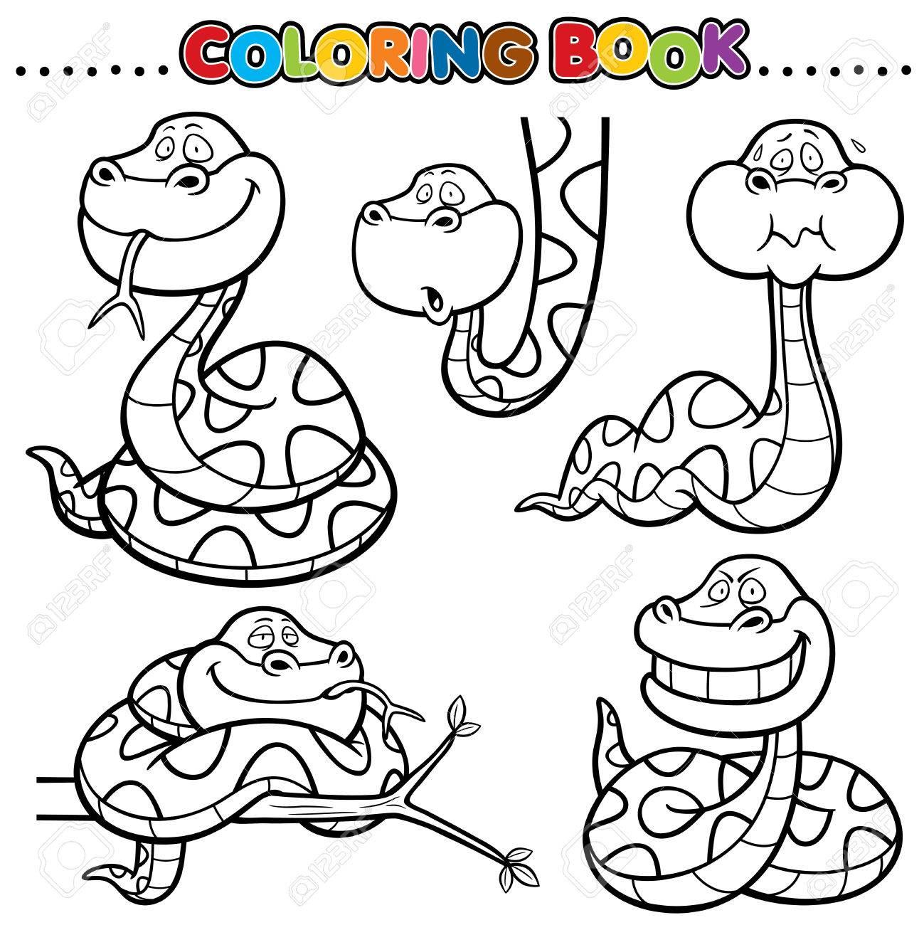 Excepcional Colorear Serpientes Motivo - Enmarcado Para Colorear ...